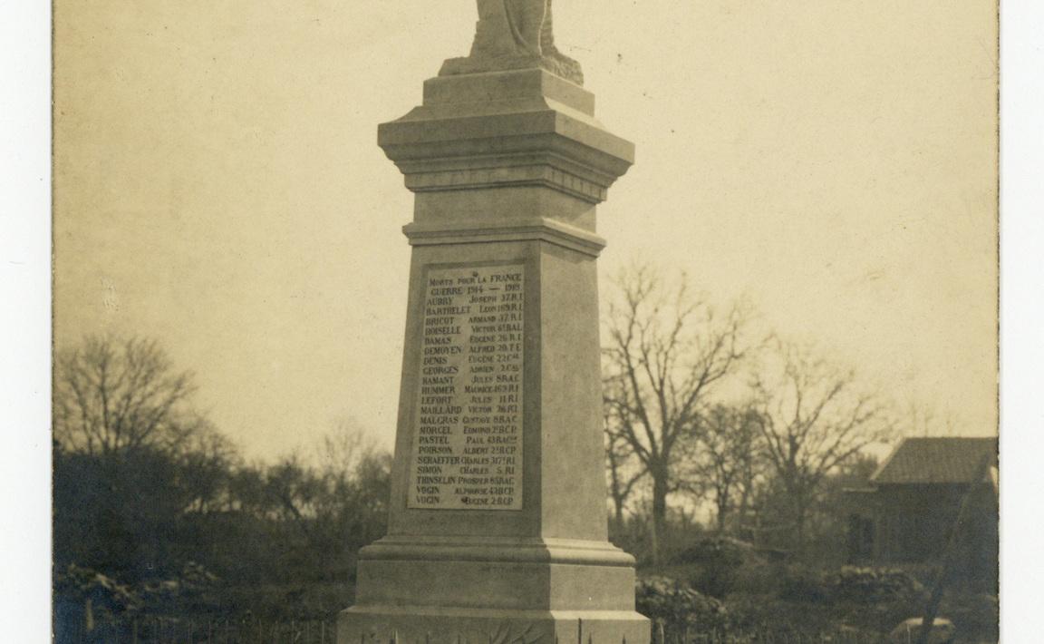 Contenu du Monument aux Morts d'Arracourt