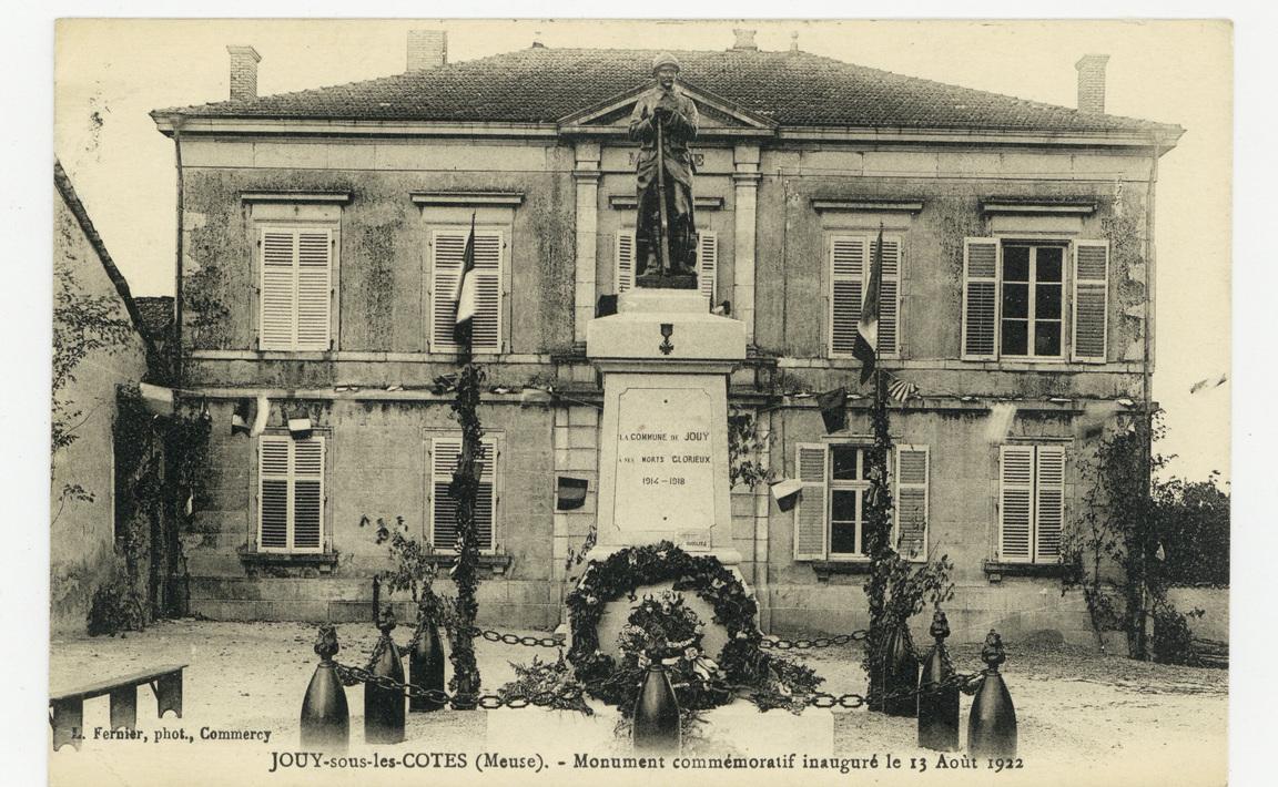 Contenu du Monument aux Morts de Jouy-sous-les-Côtes