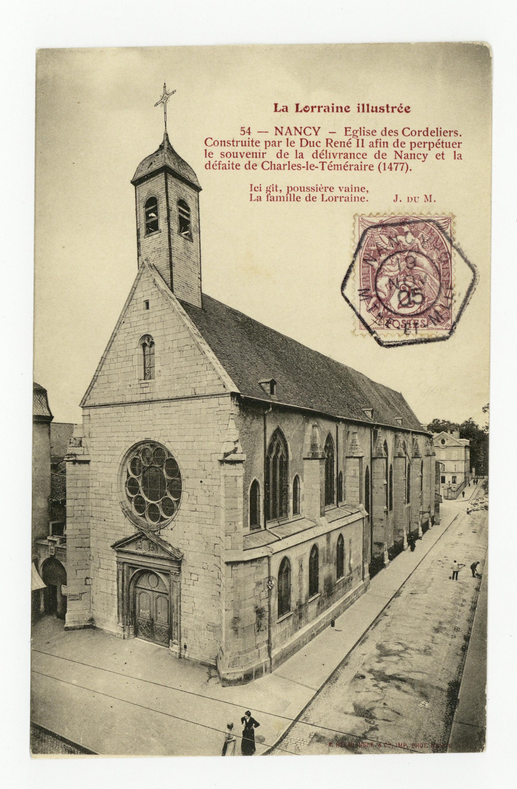 Contenu du L'Église des Cordeliers à Nancy