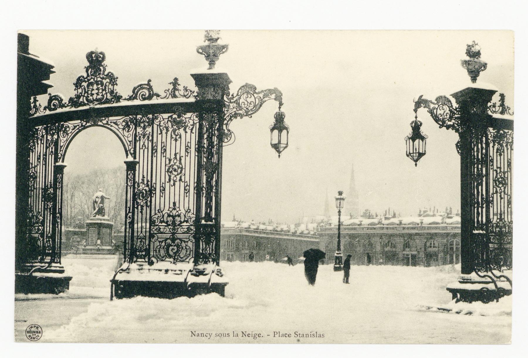 Contenu du Nancy sous la Neige. Place Stanislas