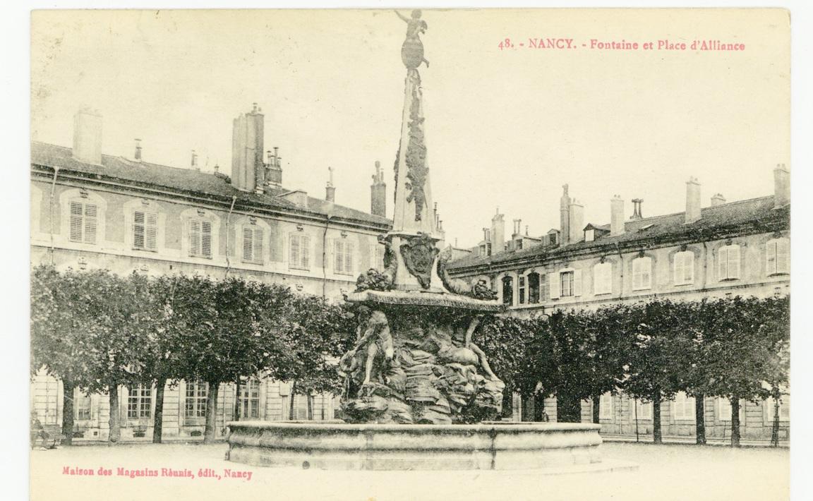Contenu du Nancy - la Place d'Alliance et sa fontaine