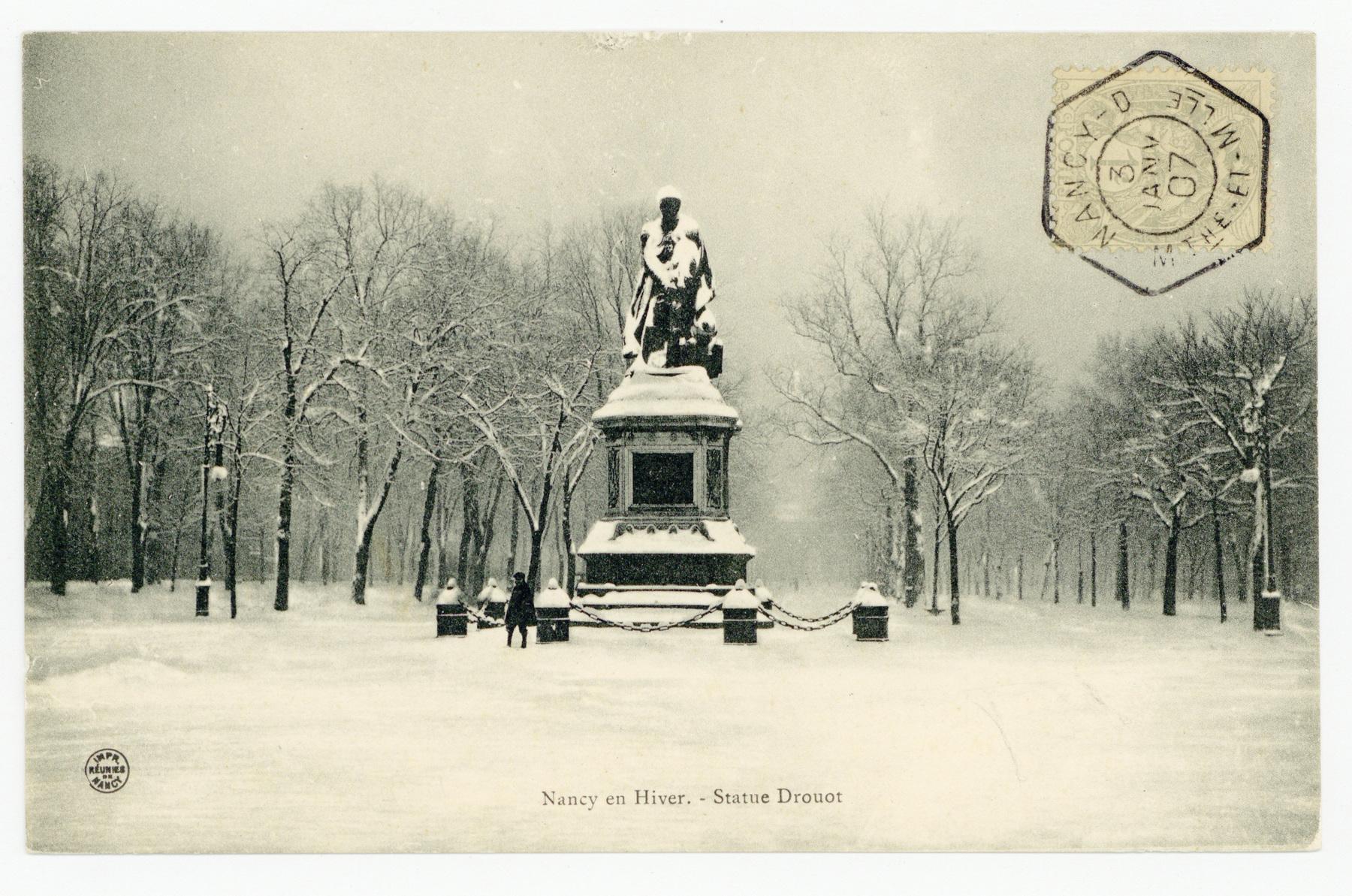 Contenu du Nancy en Hiver : statue Drouot