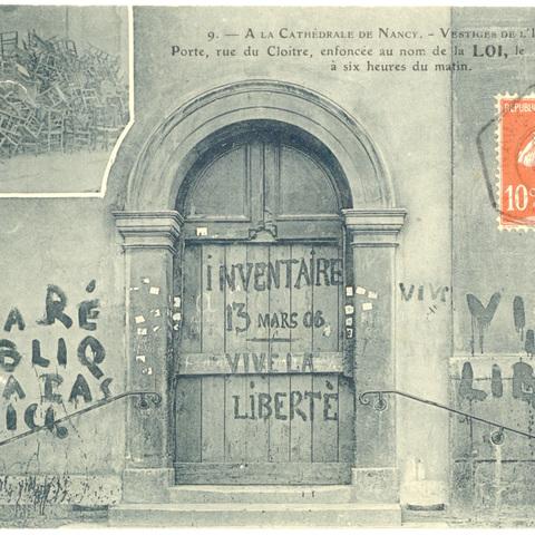 Contenu du L'inventaire des biens des églises à Nancy en 1906