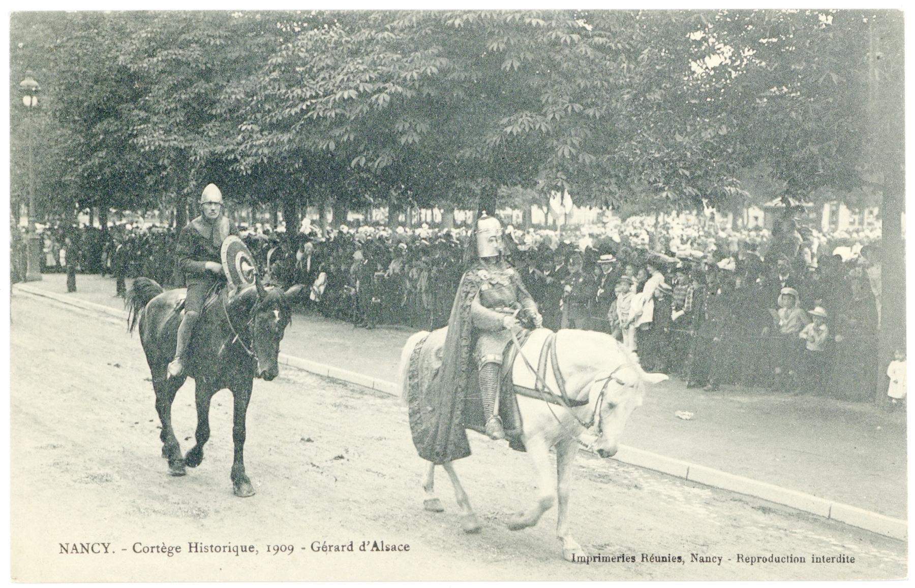 Contenu du Gérard d'Alsace  Nancy. - Cortège Historique, 1909