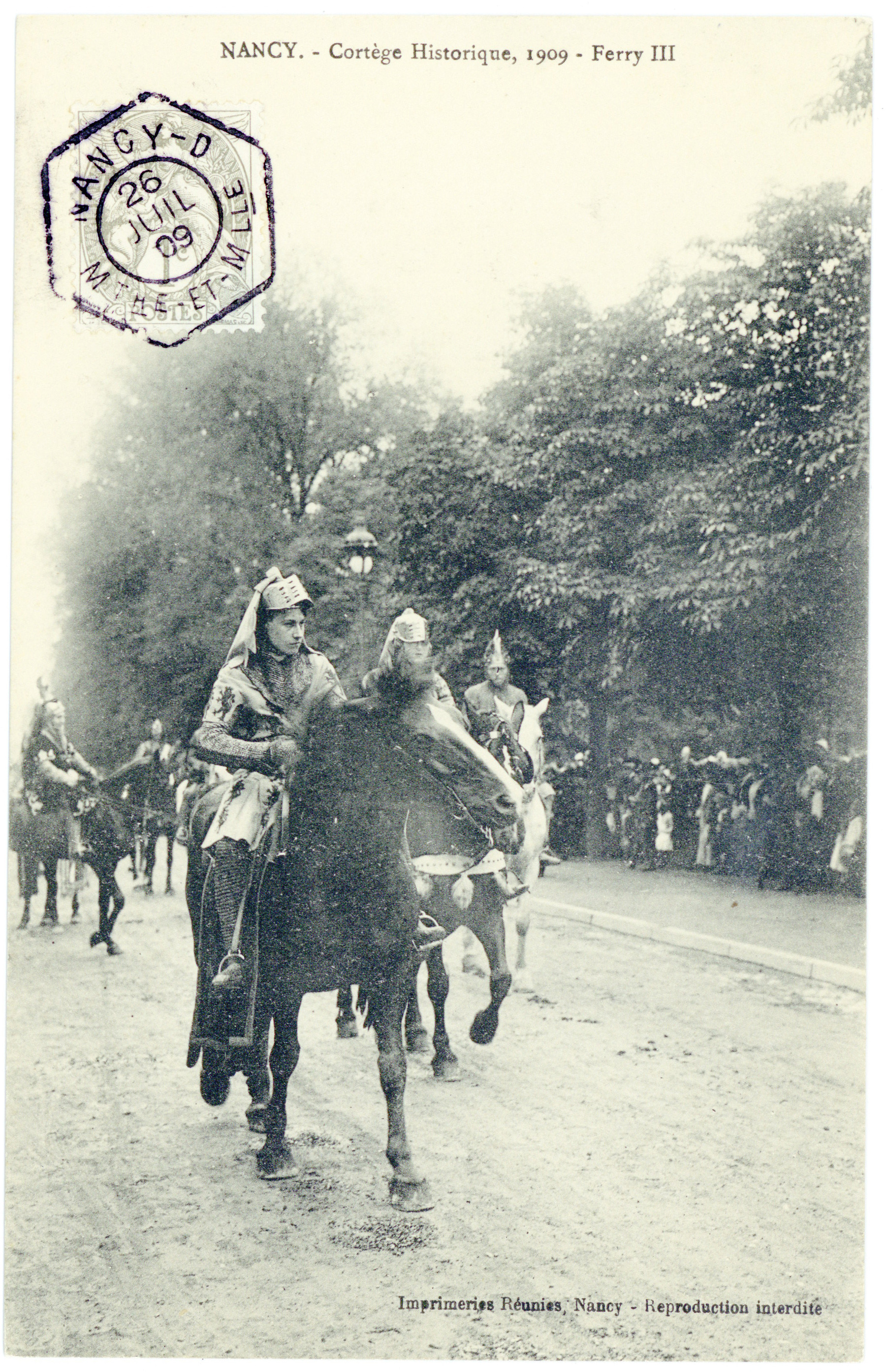 Contenu du Ferry III  Nancy. - Cortège Historique, 1909