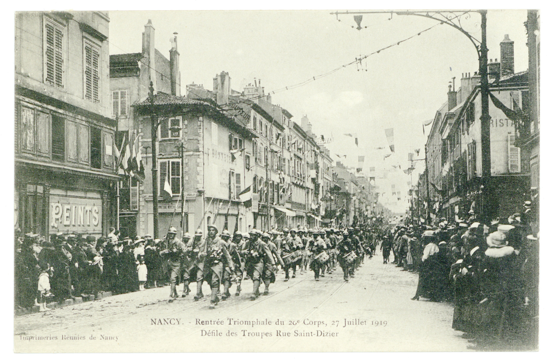 Contenu du Défilé dans les rues de Nancy