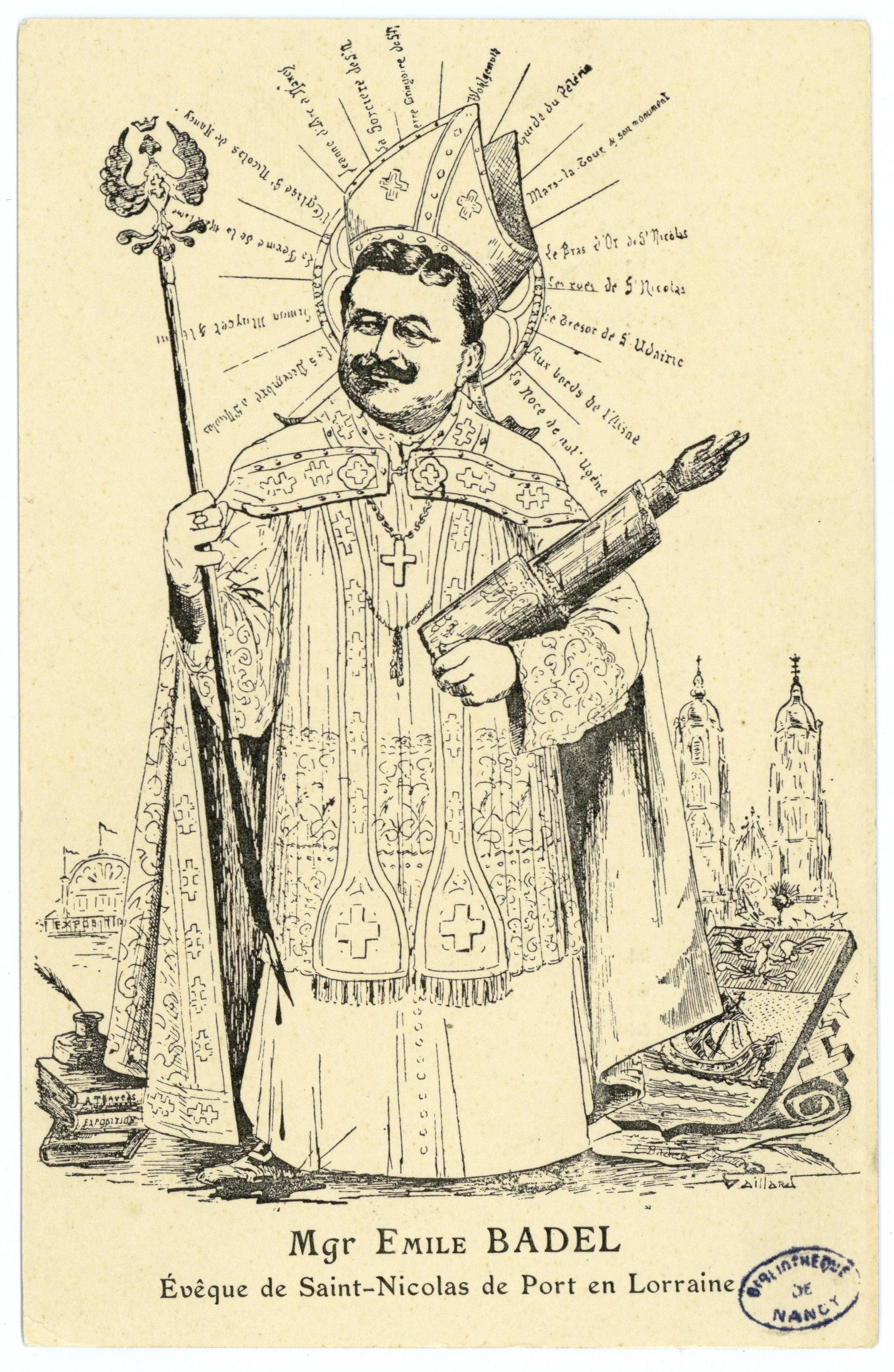 Contenu du Mgr Émile Badel Évêque de Saint-Nicolas-de-Port en Lorraine