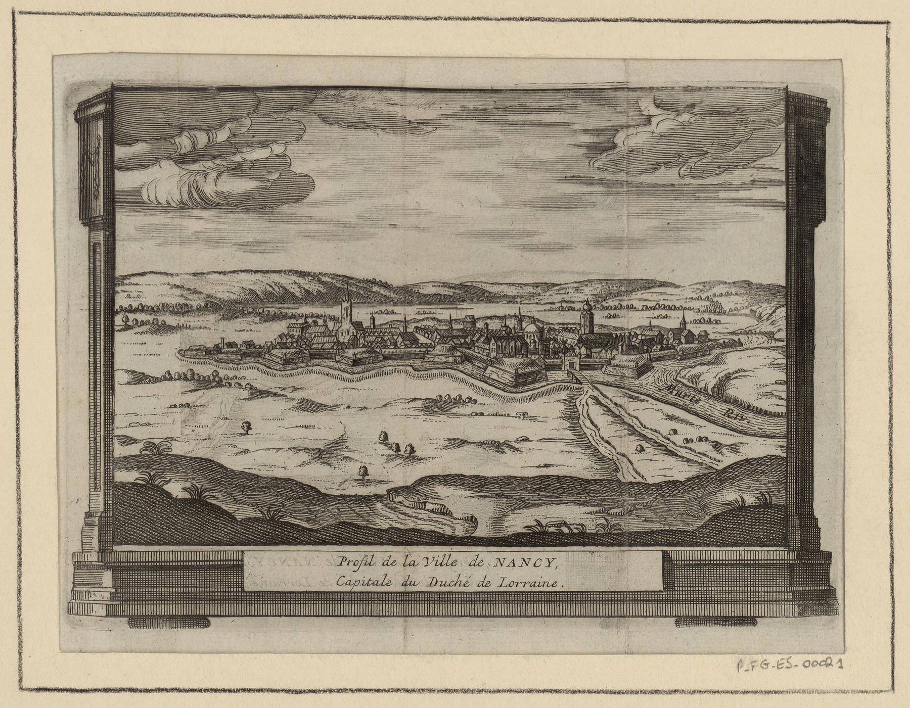Contenu du Profil de la Ville de Nancy, Capitale du Duché de Lorraine. Vers 1702