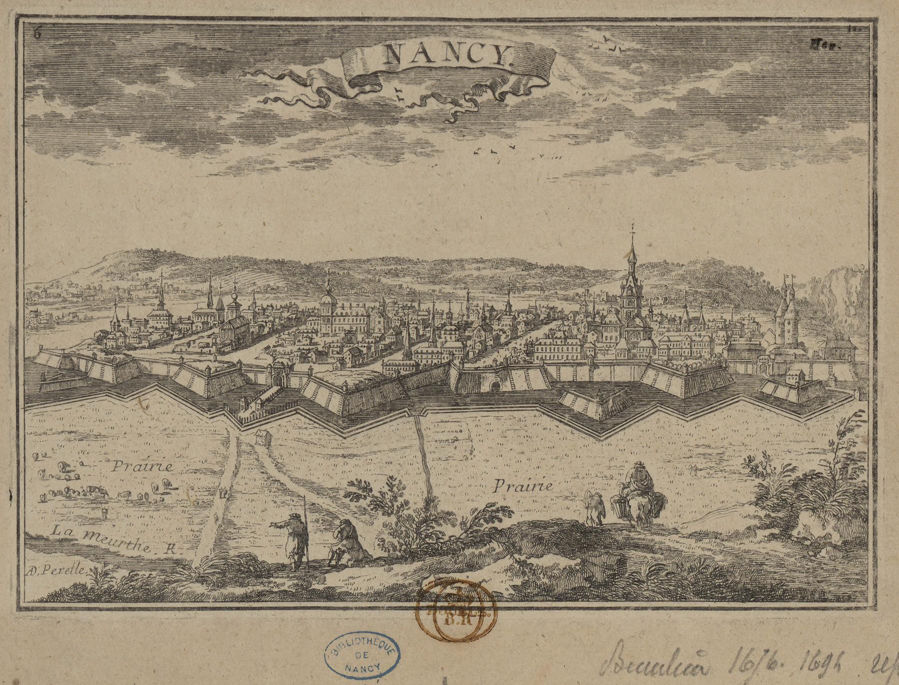 Contenu du Nancy gravée par Beaulieu à la fin du XVIIe siècle