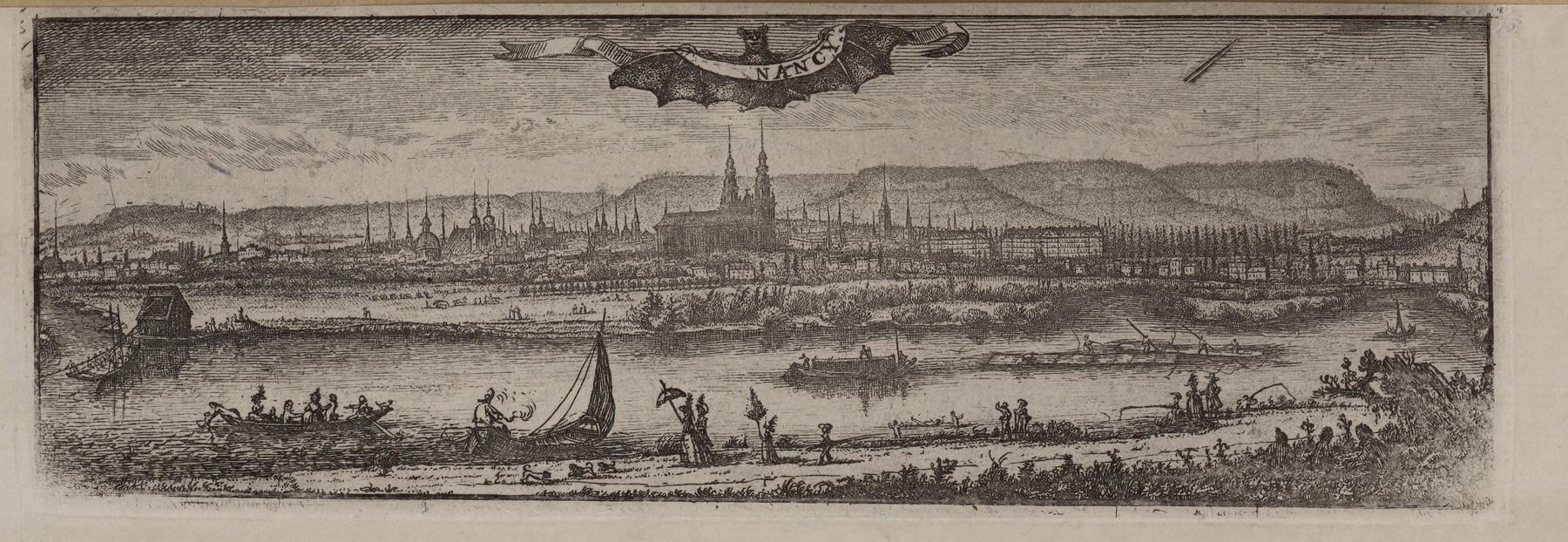 Contenu du Nancy. Vue gravée par Herpin vers 1790-1800