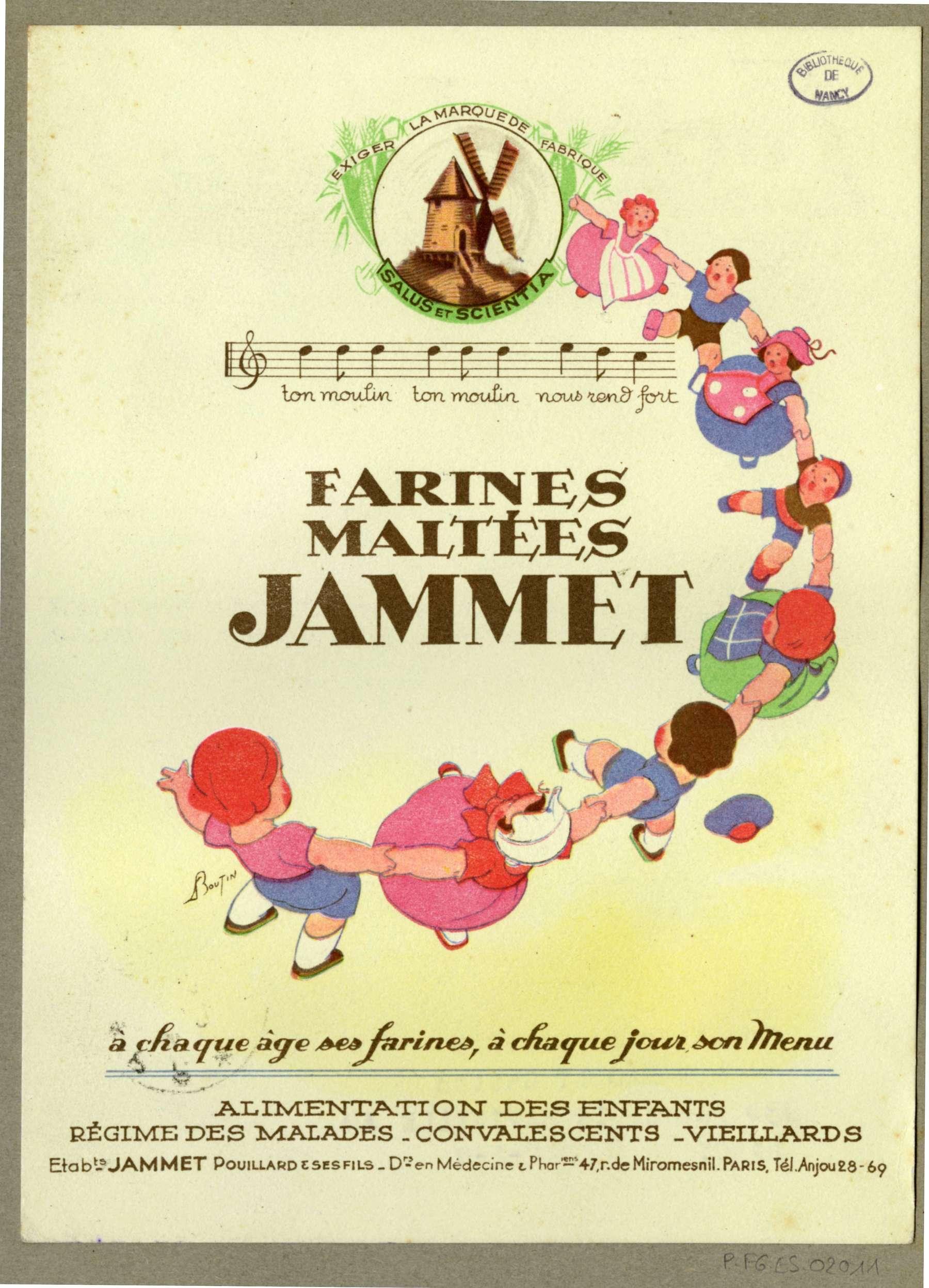 Contenu du Farines maltées Jammet