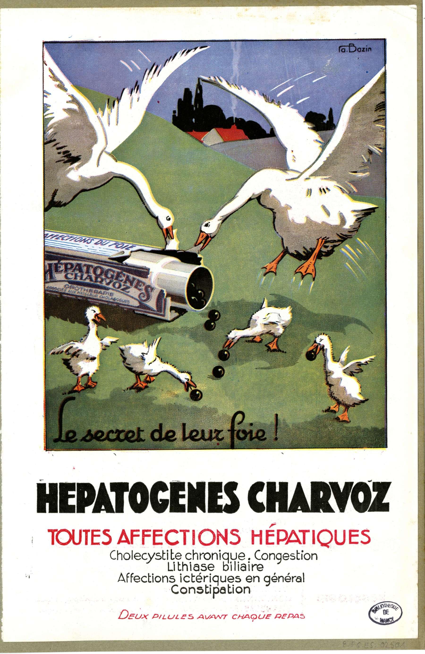 Contenu du Hépatogènes Charvoz