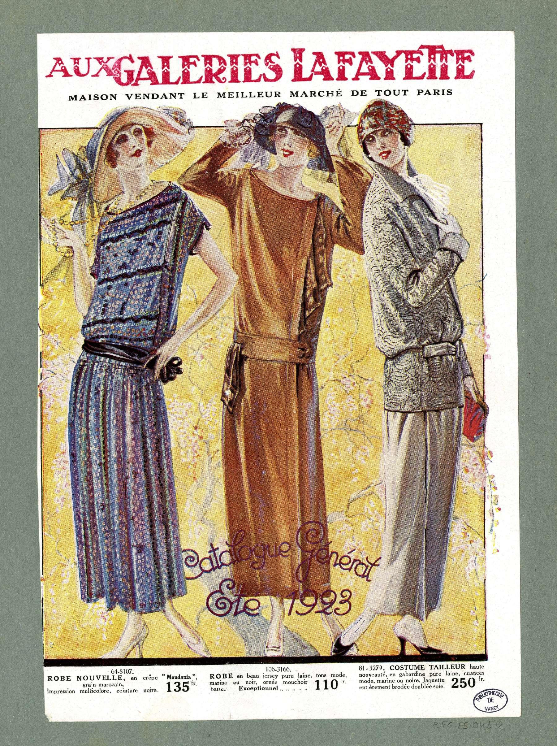 Contenu du Eté 1923