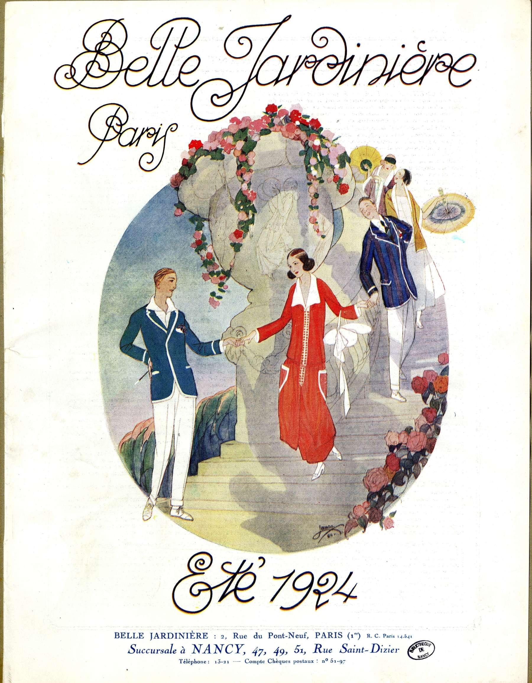 """Contenu du """"Belle Jardinière"""", Paris et Nancy"""
