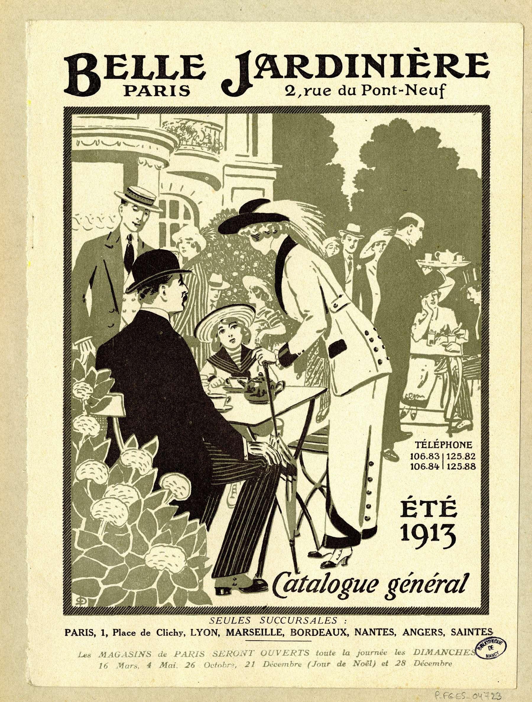 Contenu du Catalogue général Belle Jardinière, Paris