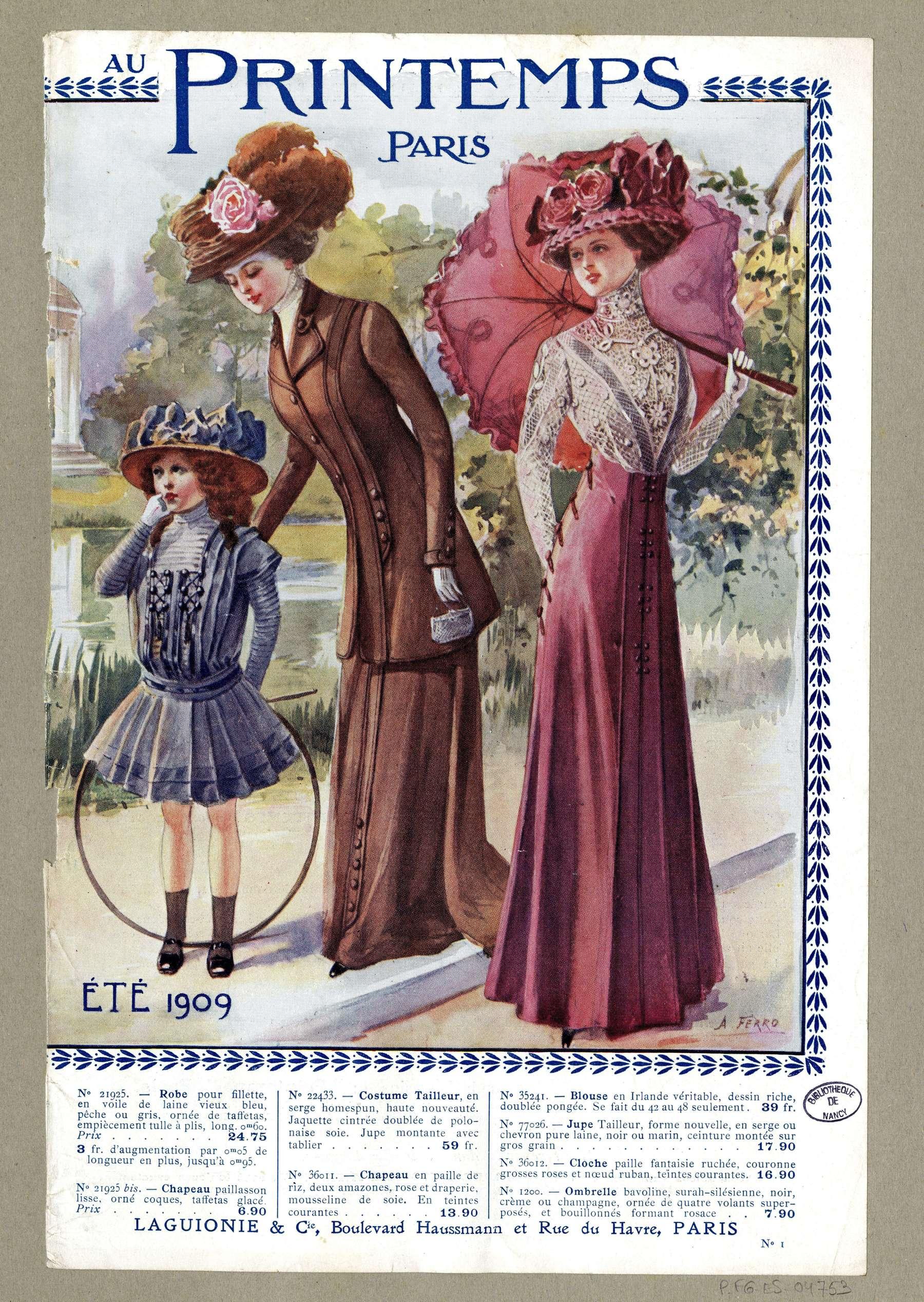 Contenu du Eté 1909