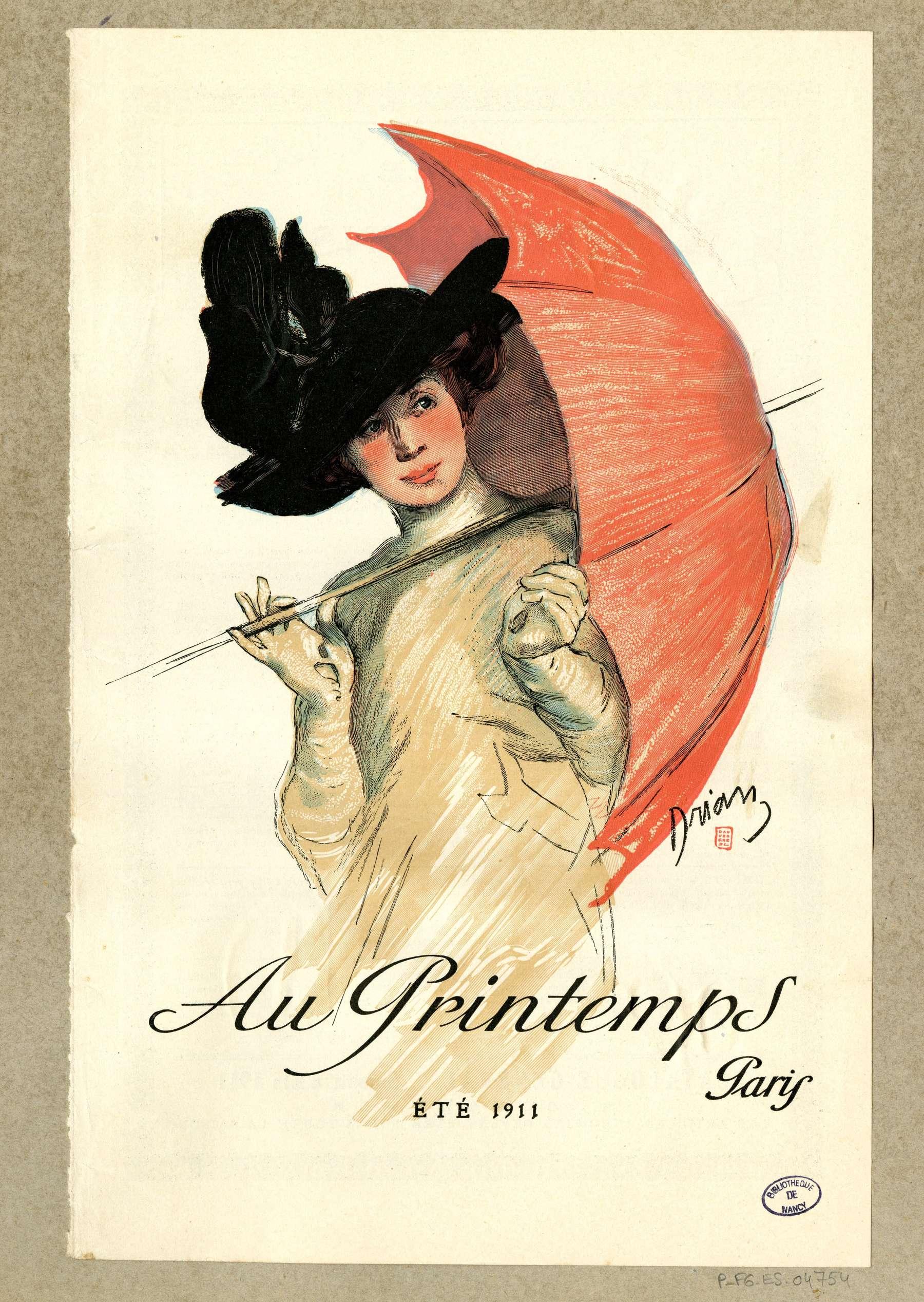 Contenu du Au Printemps, Paris