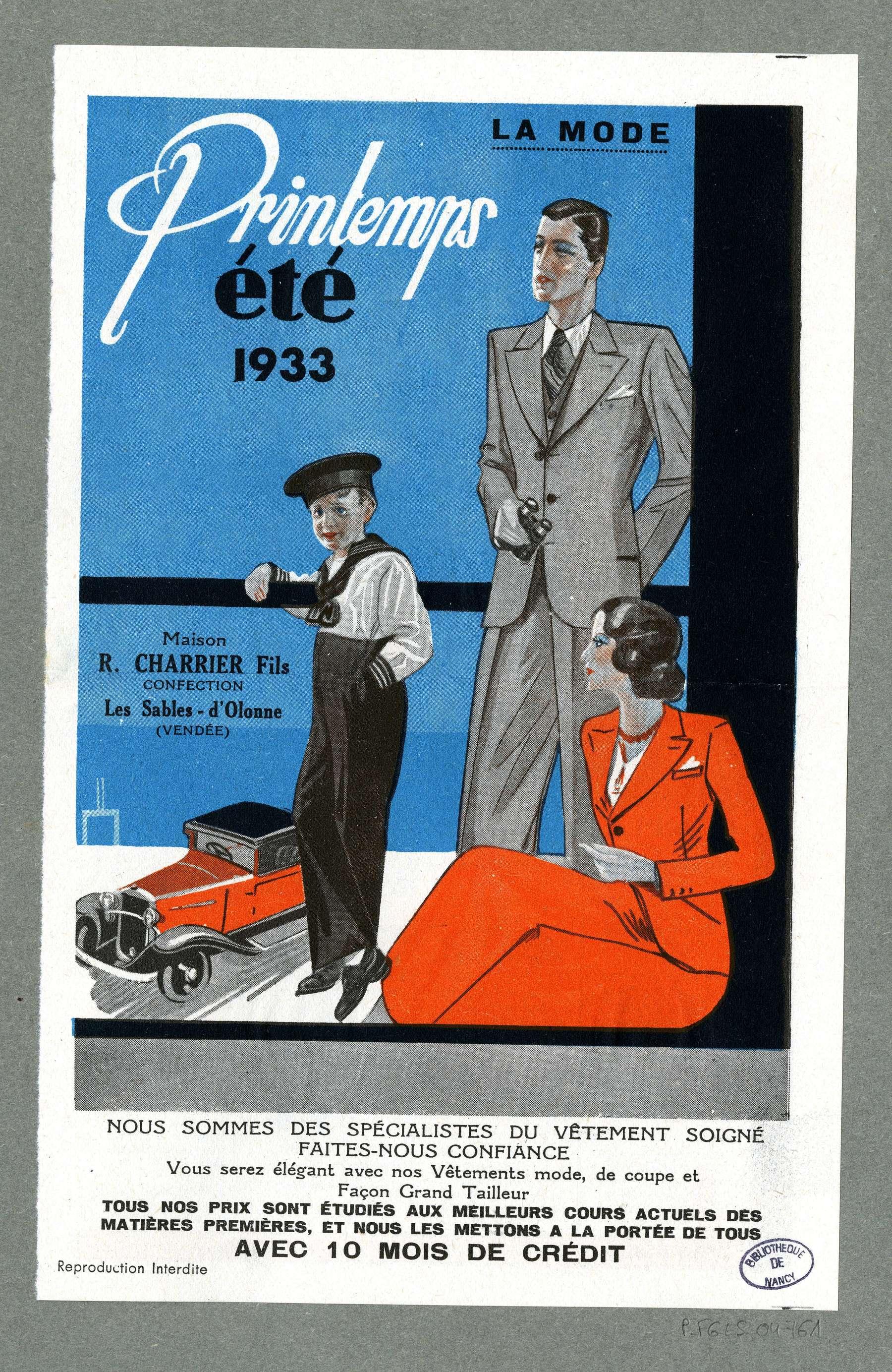 Contenu du 1933