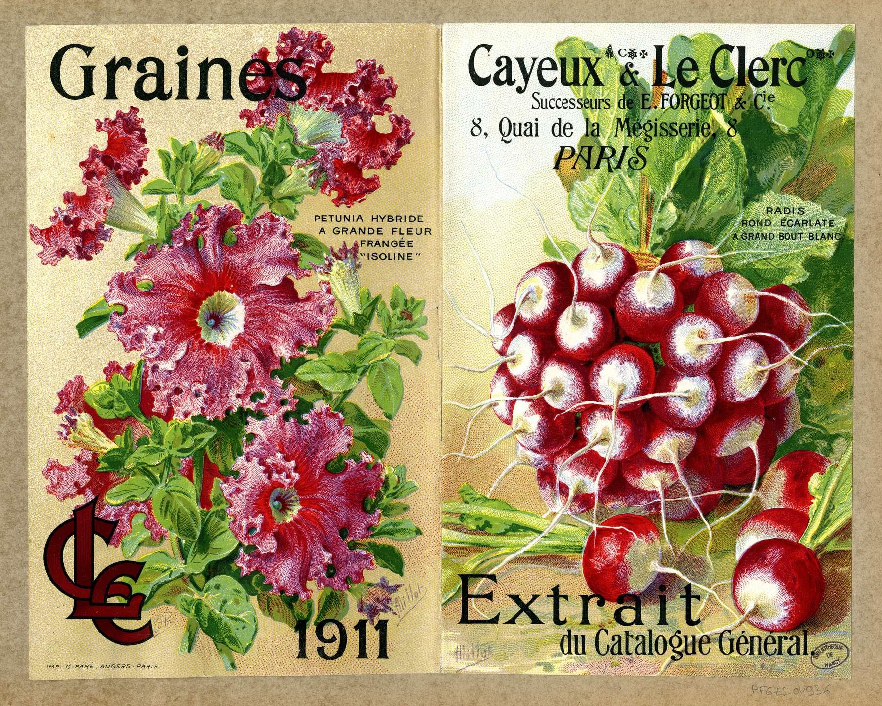 Contenu du Légumes et fleurs