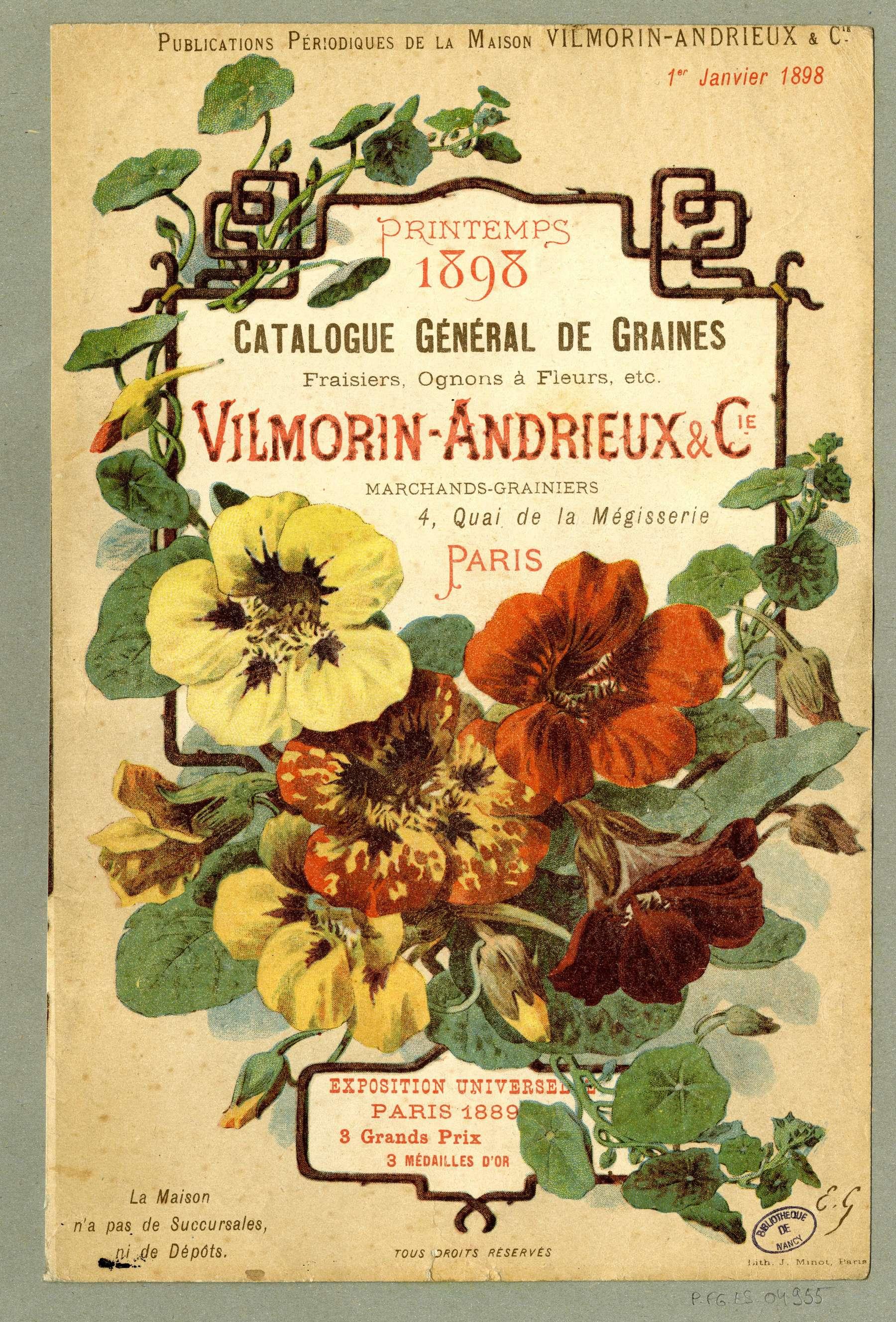 Contenu du Catalogue général de graines