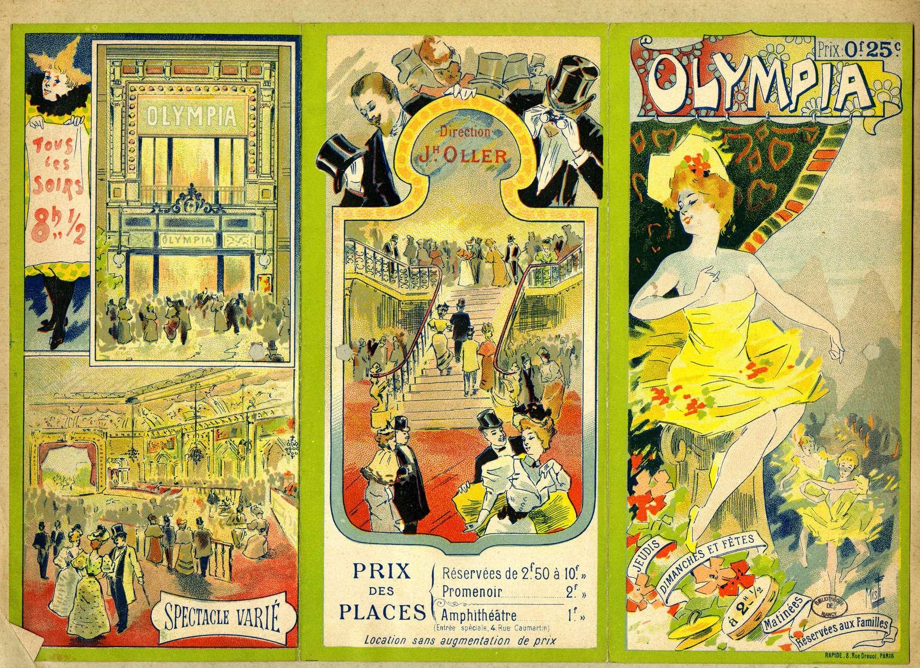 Contenu du L'Olympia
