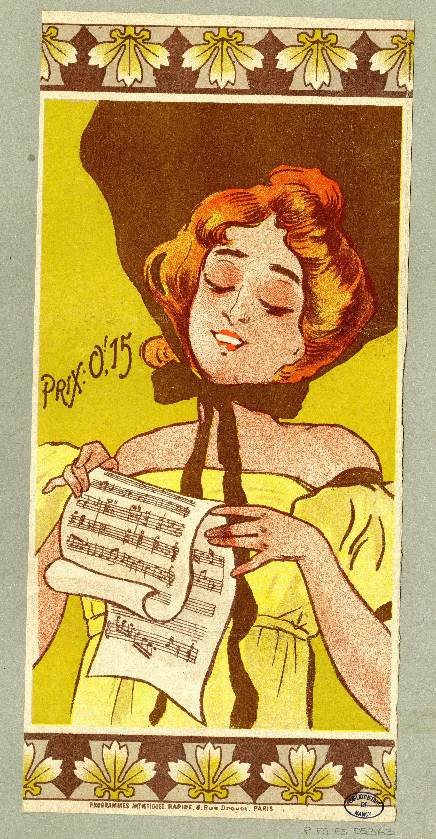 Contenu du Une Chanteuse