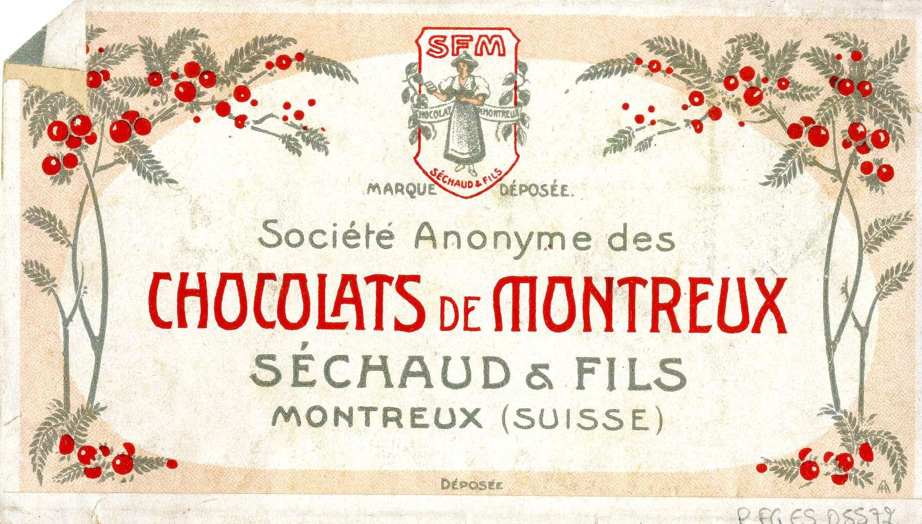 Contenu du Société anonyme des chocolats de Montreux