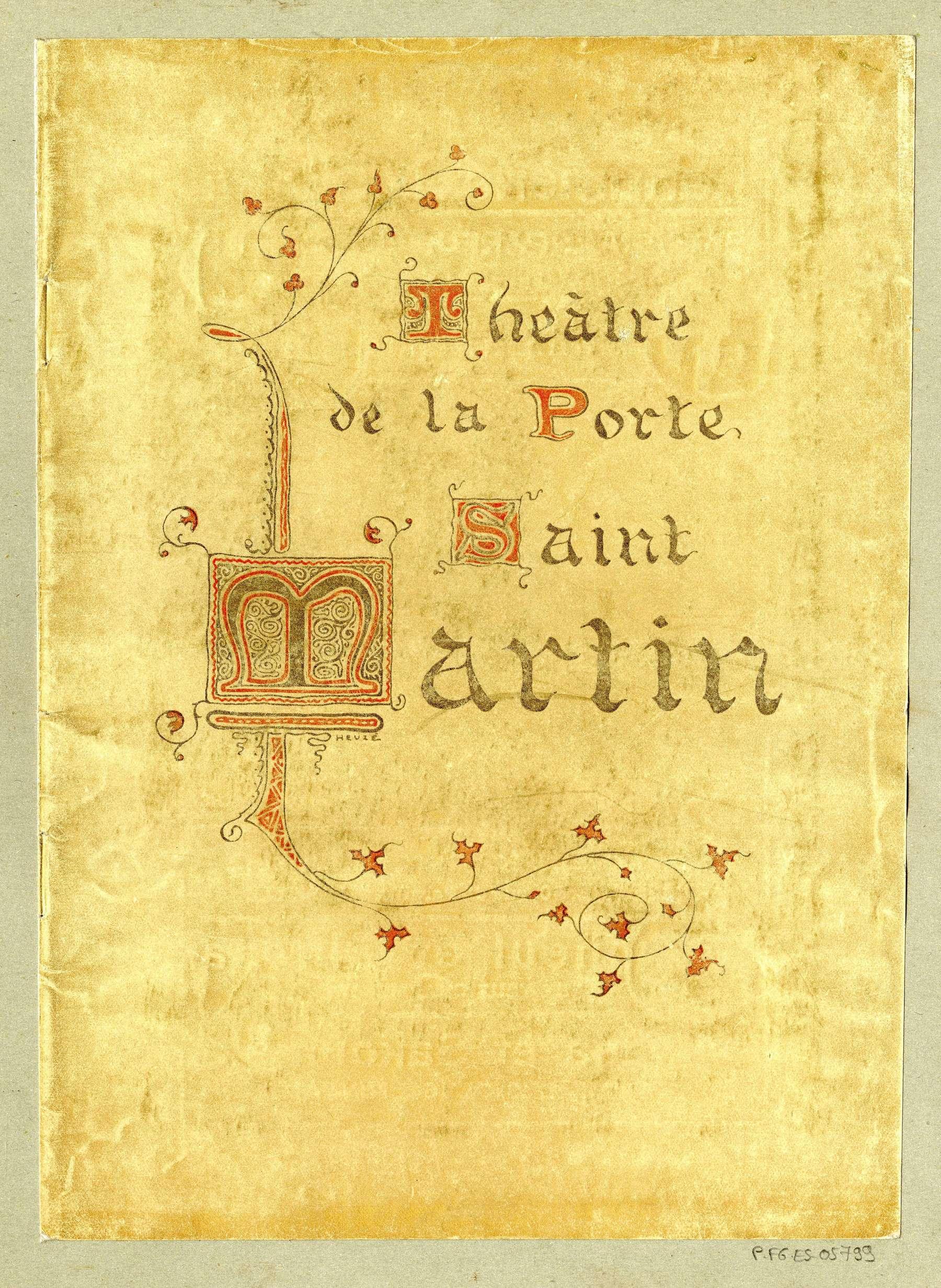 Contenu du Théâtre de la porte Saint Martin