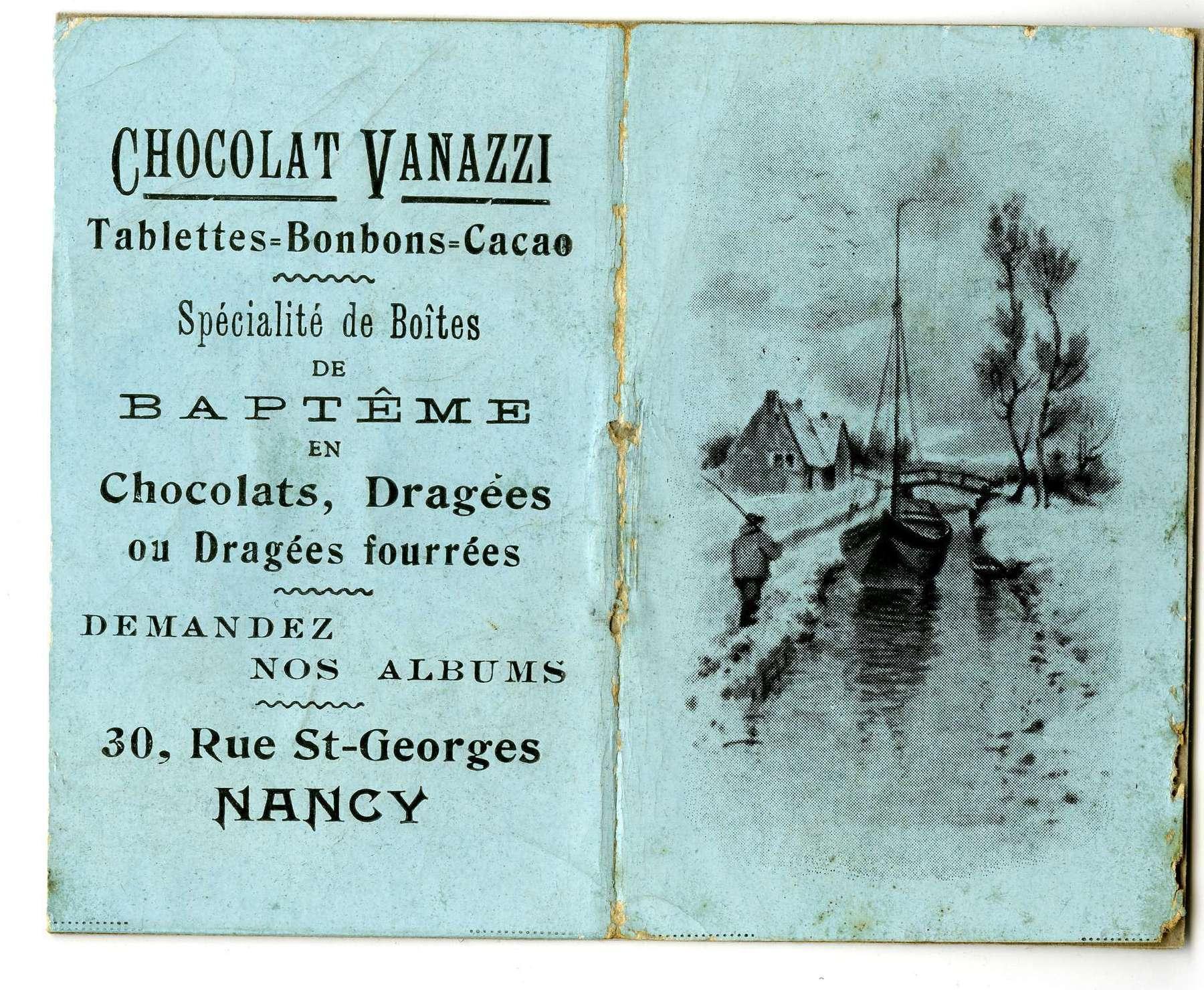 Contenu du Chocolat Vanazzi