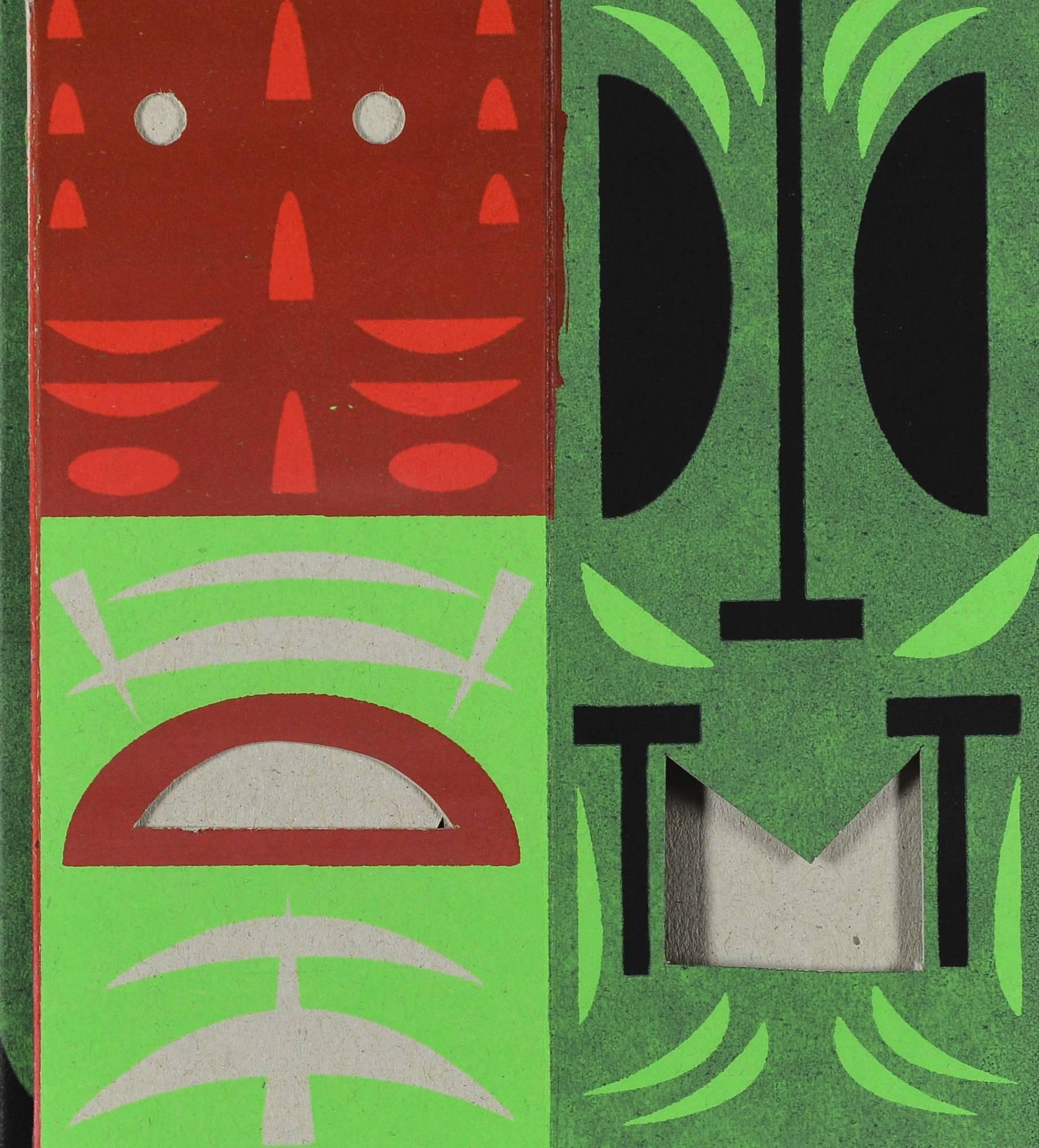 Contenu du Tikis de Polynésie rouge et vert