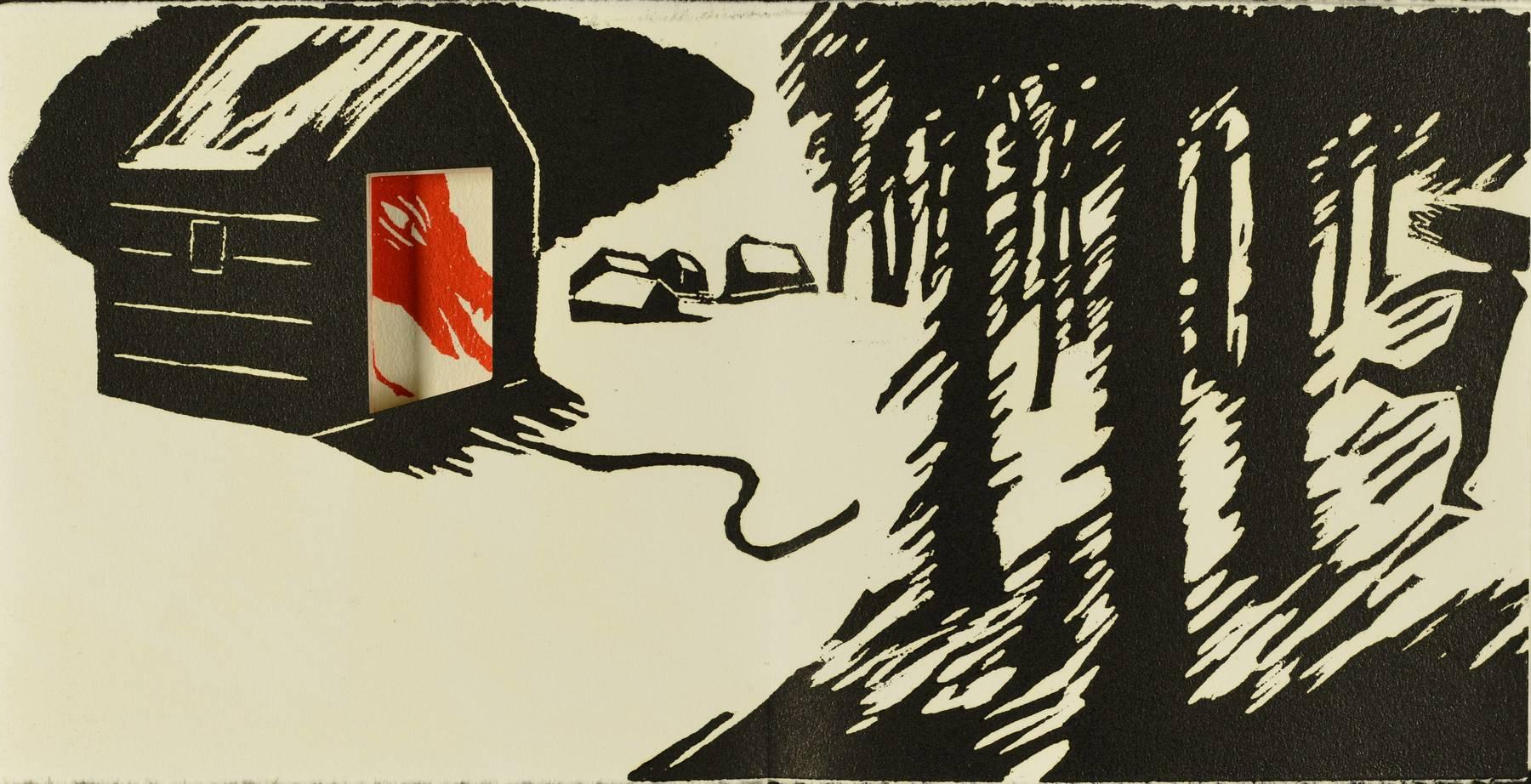 Contenu du Livre d'artiste - La fuite du Petit Chaperon rouge