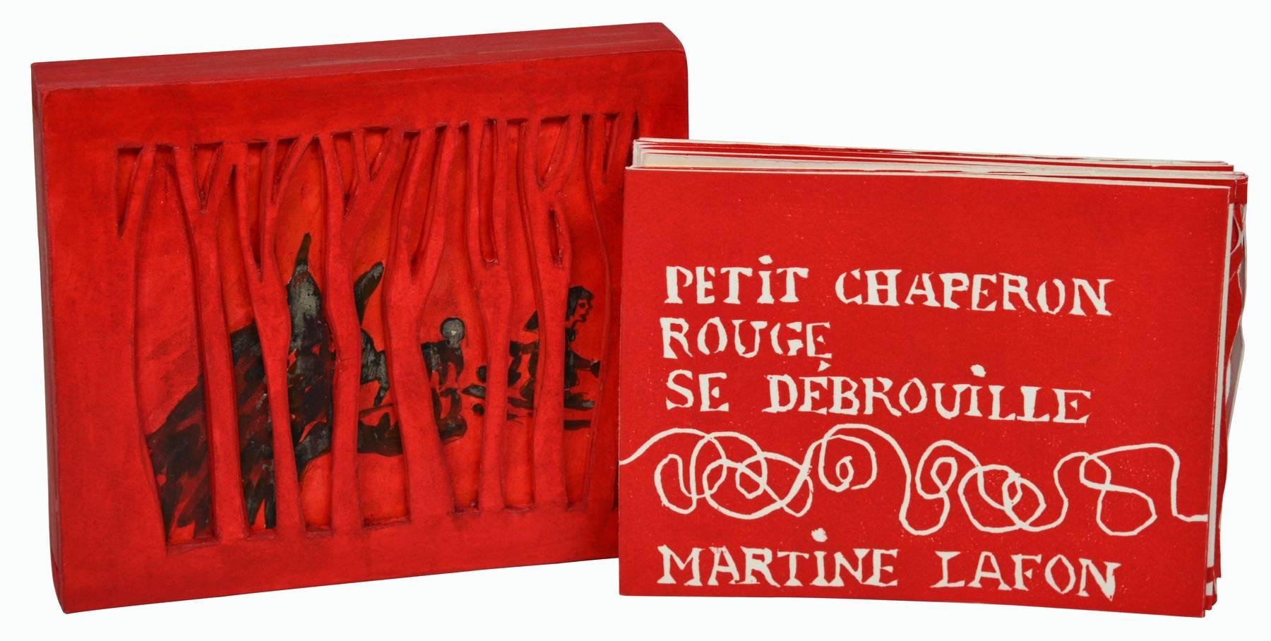 Contenu du Livre d'artiste - Le Petit Chaperon rouge dans son coffret