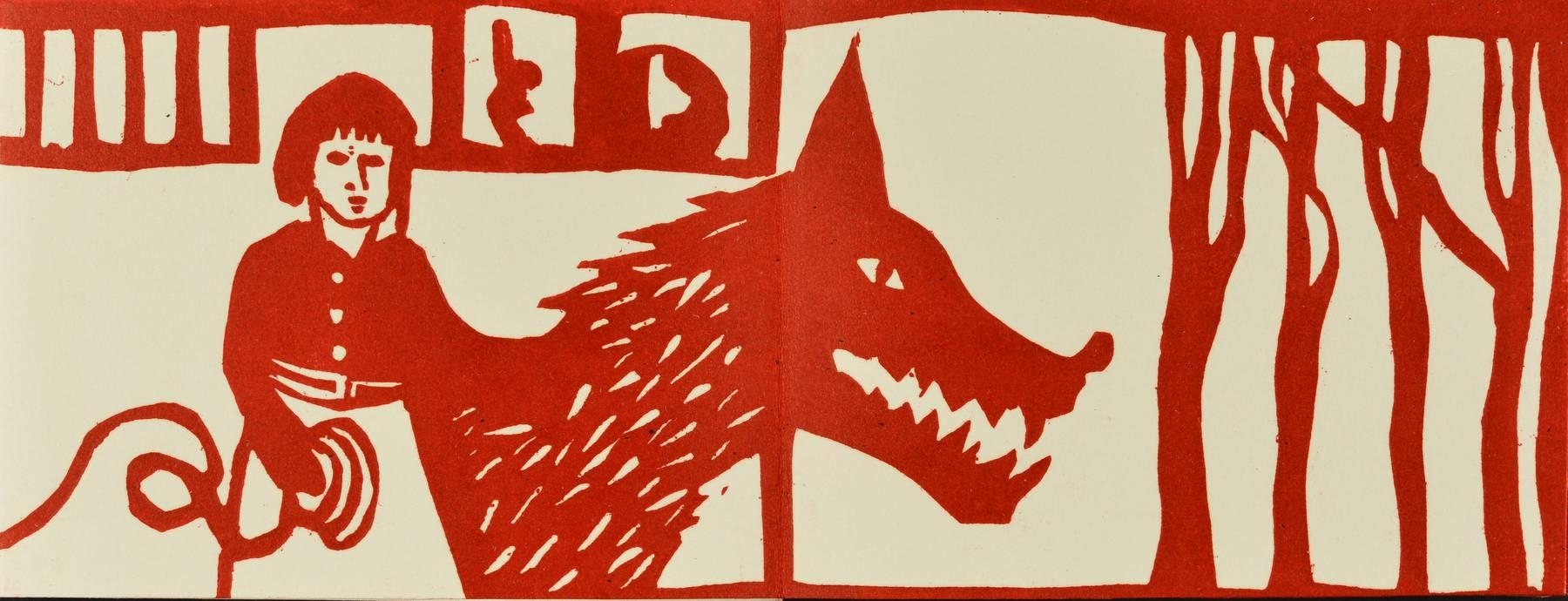 Contenu du Livre d'artiste - Le Petit Chaperon rouge et le loup