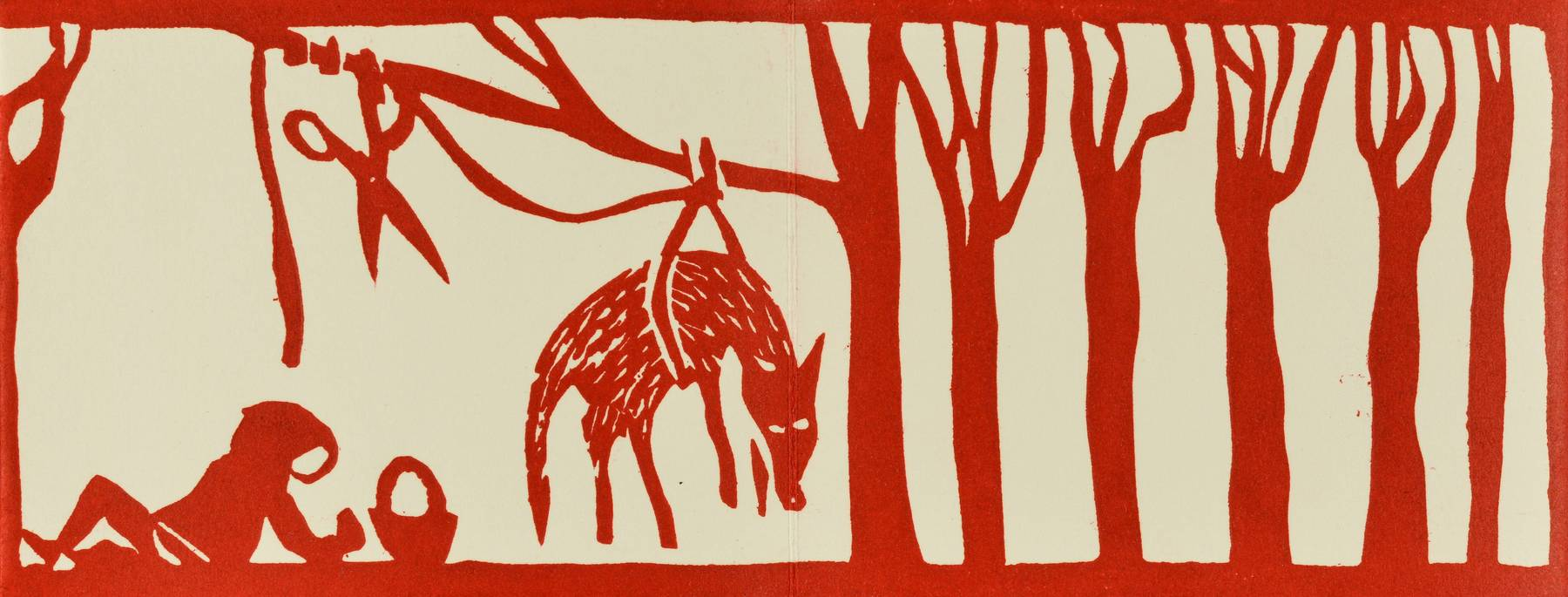 Contenu du Livre d'artiste - Le loup prisonnier