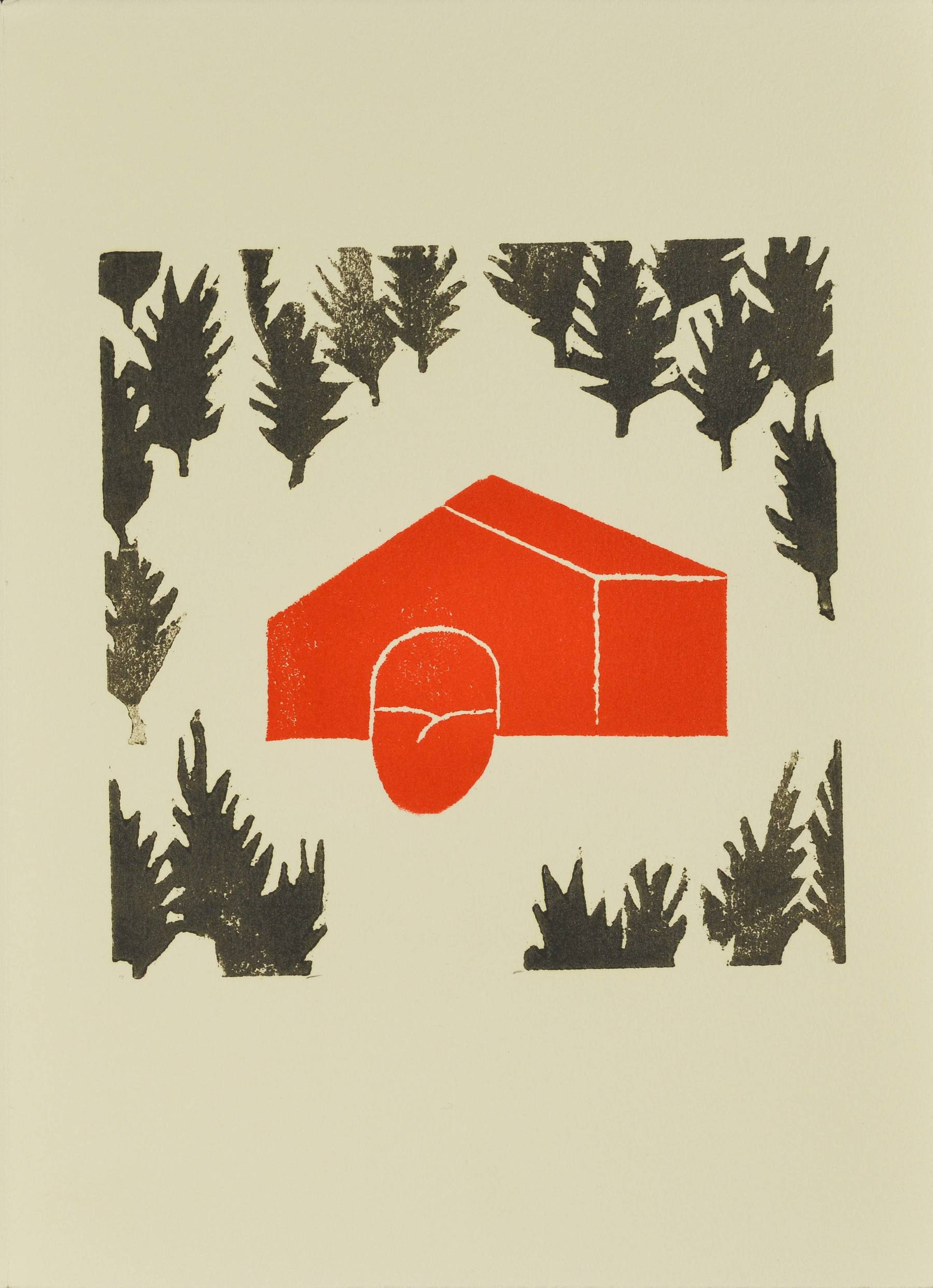 Contenu du Une maison rouge dans la forêt