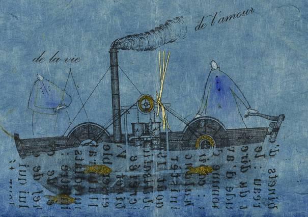 Contenu du Livres d'artiste sur le Bleu