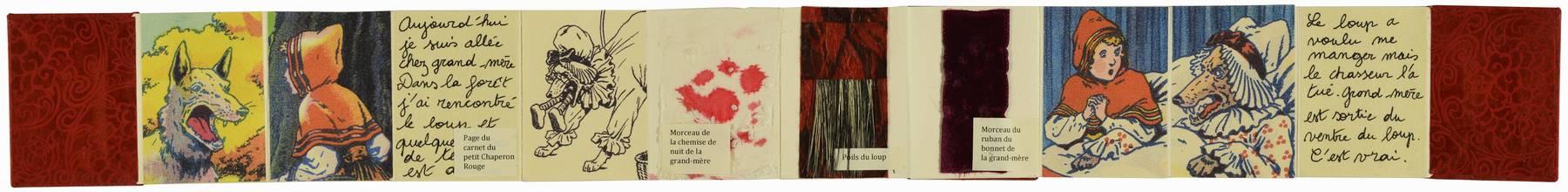 Contenu du Livre d'artiste - Souvenir du Petit Chaperon rouge