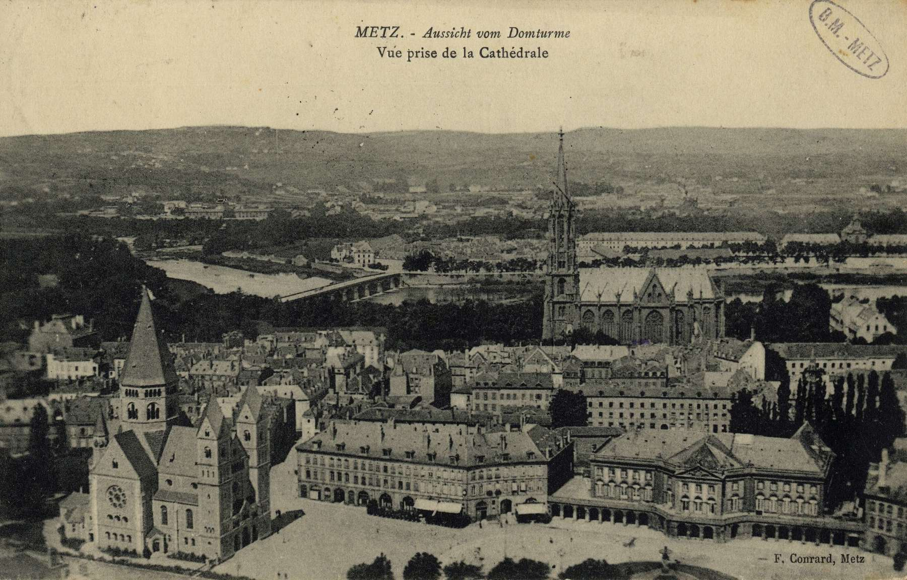 Contenu du Metz. Vue prise de la cathédrale