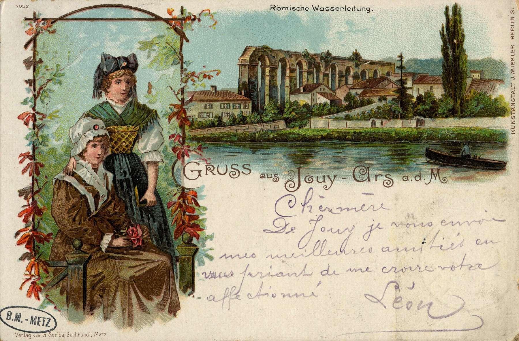 Contenu du Gruss aus Jouy-Ars a.d. M. Römische Wasserleitung
