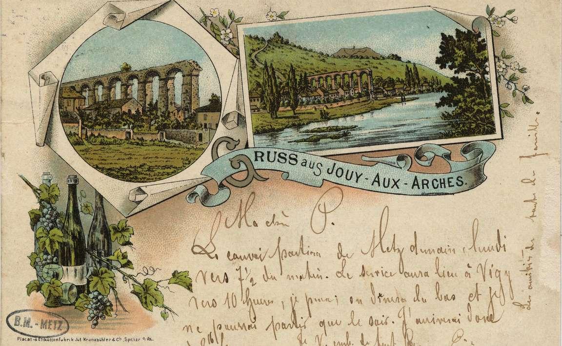 Contenu du Gruss aus Jouy- Aux- Arches