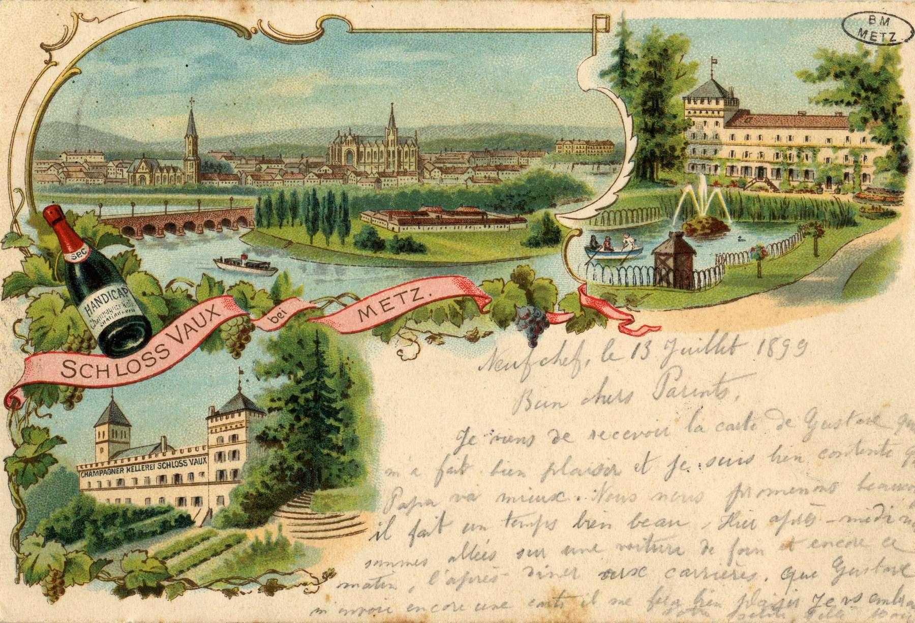 Contenu du Schloss Vaux bei Metz