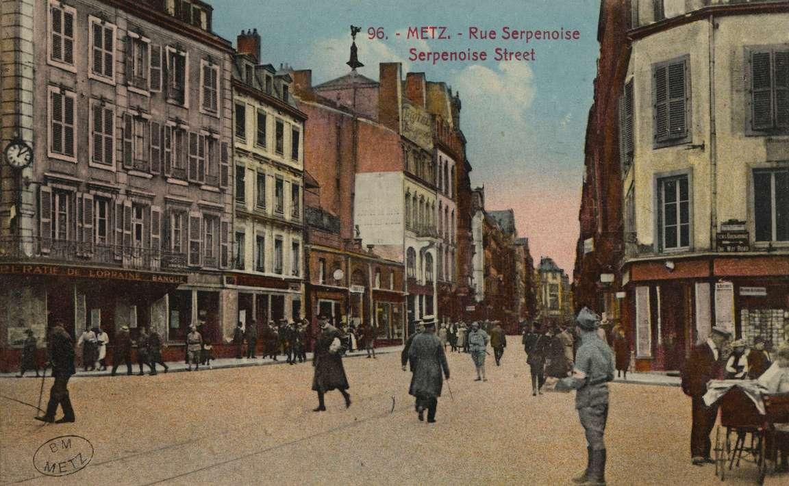 Contenu du Metz. Rue Serpenoise