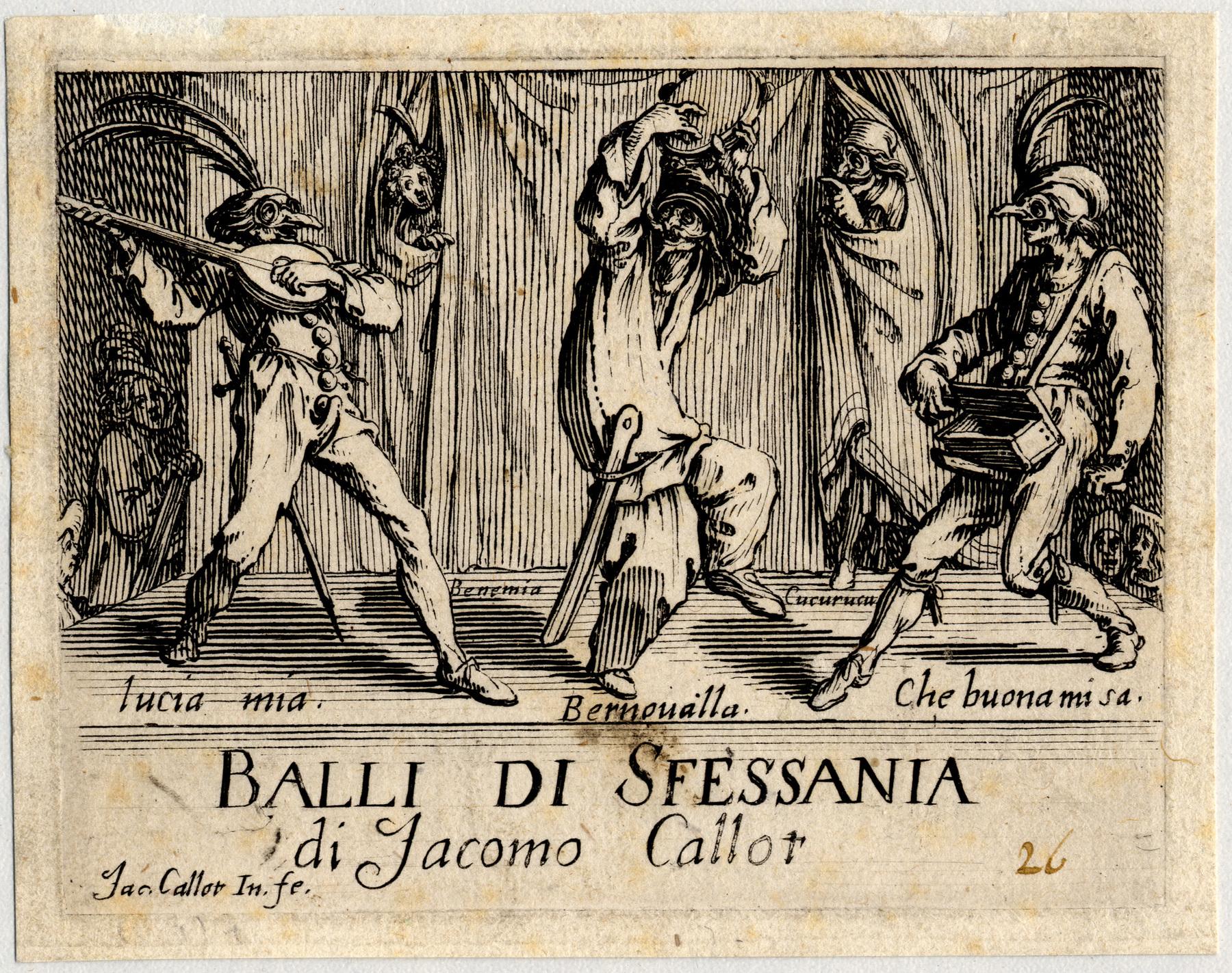 Contenu du Balli di Sfessania: Frontispice