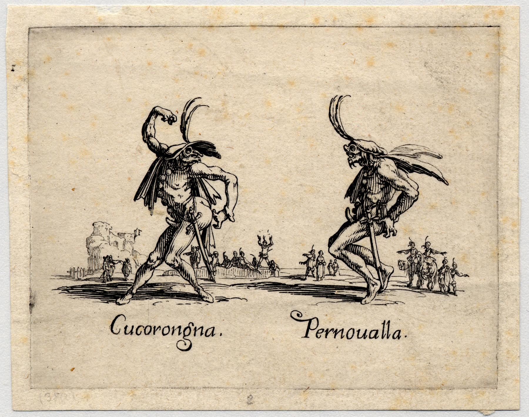 Contenu du Balli di Sfessania: Cucorongna, Pernoualla