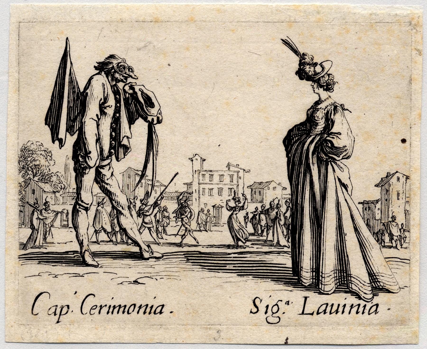 Contenu du Balli di Sfessania : Capitaine Cerimonia, signora Lavinia