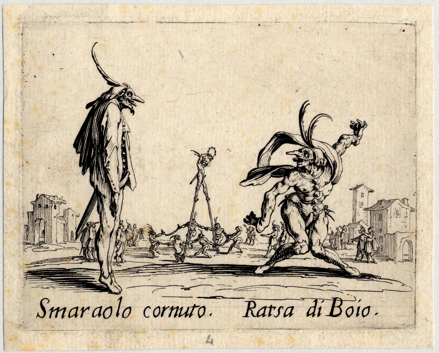 Contenu du Balli di Sfessania : Smaraolo Cornutto, Ratsa di Boio
