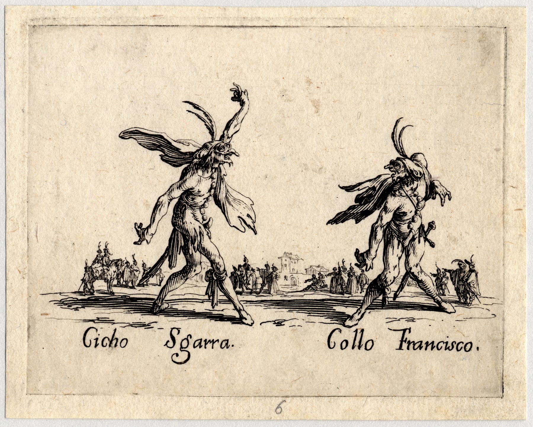Contenu du Balli di Sfessania : Cicho Sgarra, Collo Francisco