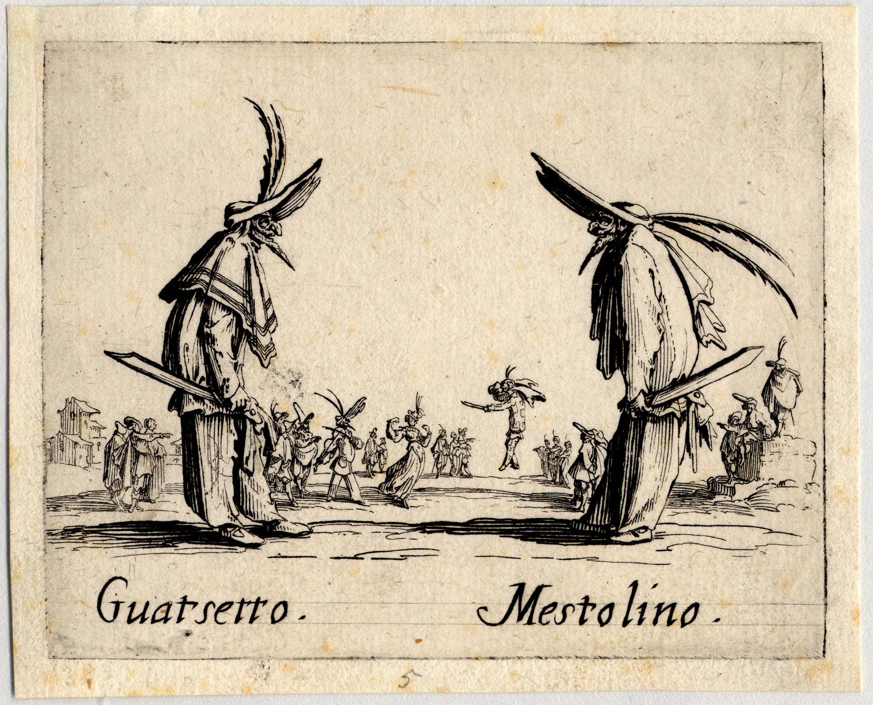 Contenu du Balli di Sfessania : Guatsetto, Mestolino