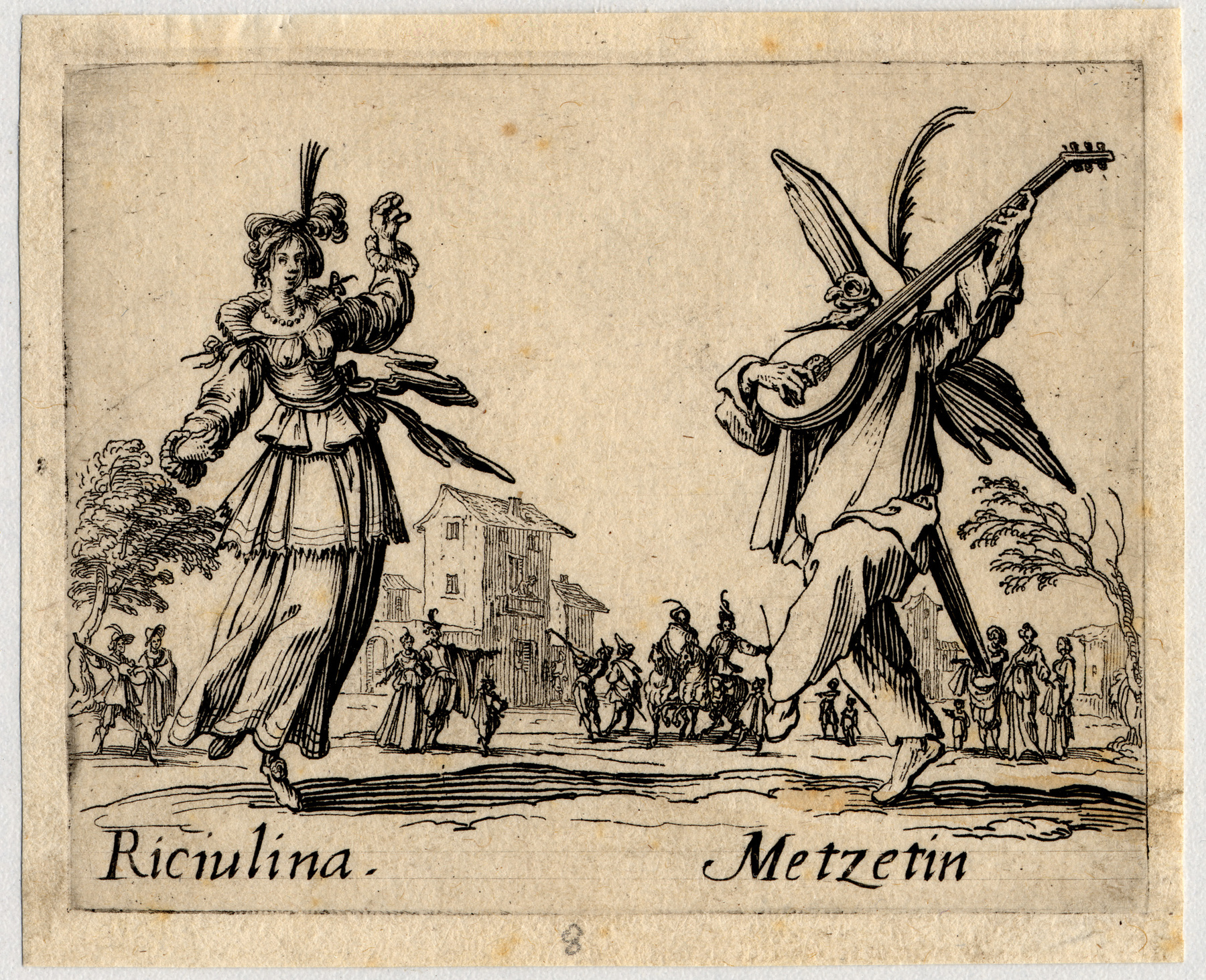Contenu du Balli di Sfessania : Riciulina, Metzetin