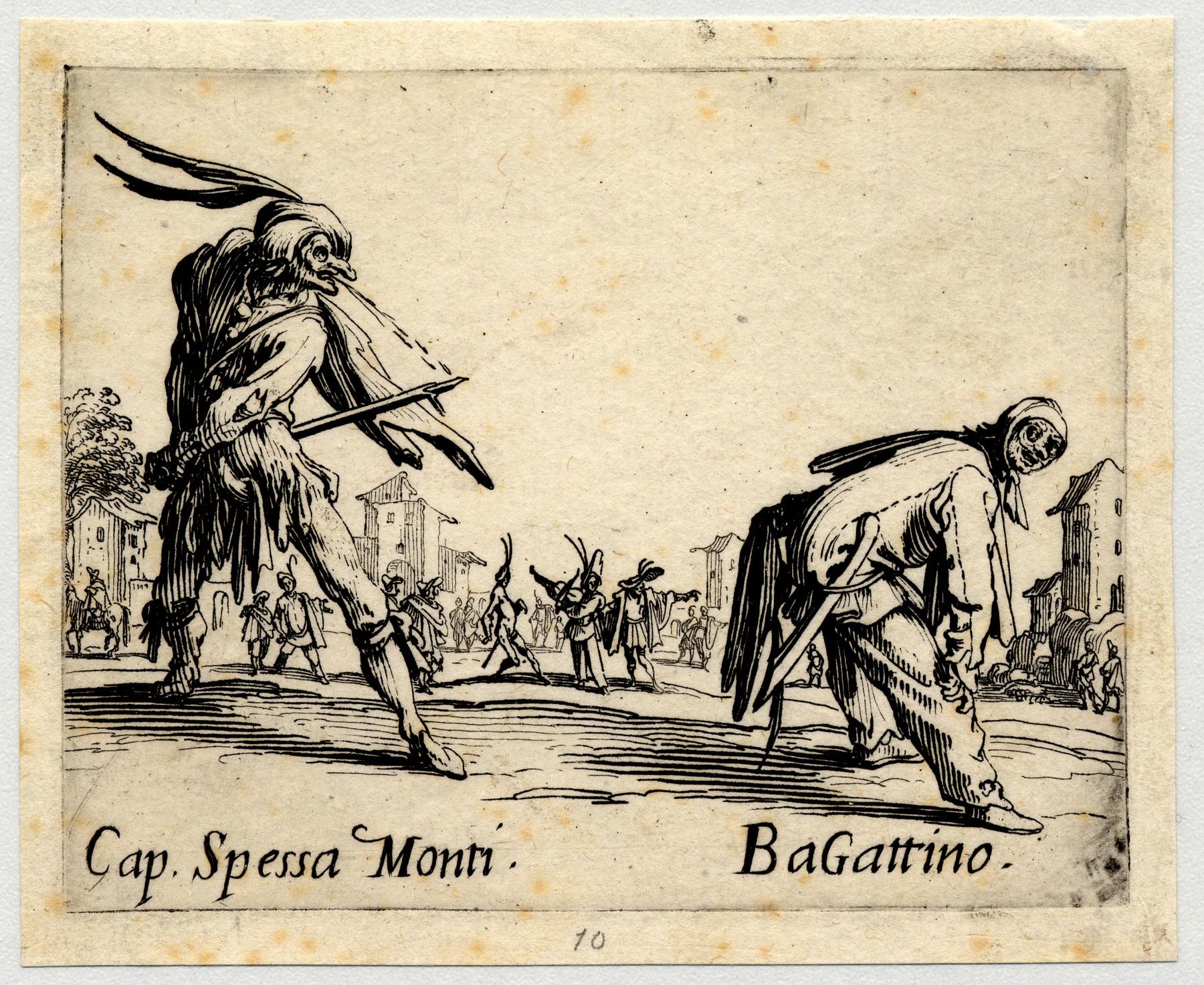 Contenu du Balli di Sfessania : Capitaine Spessa Monti, Bagattino